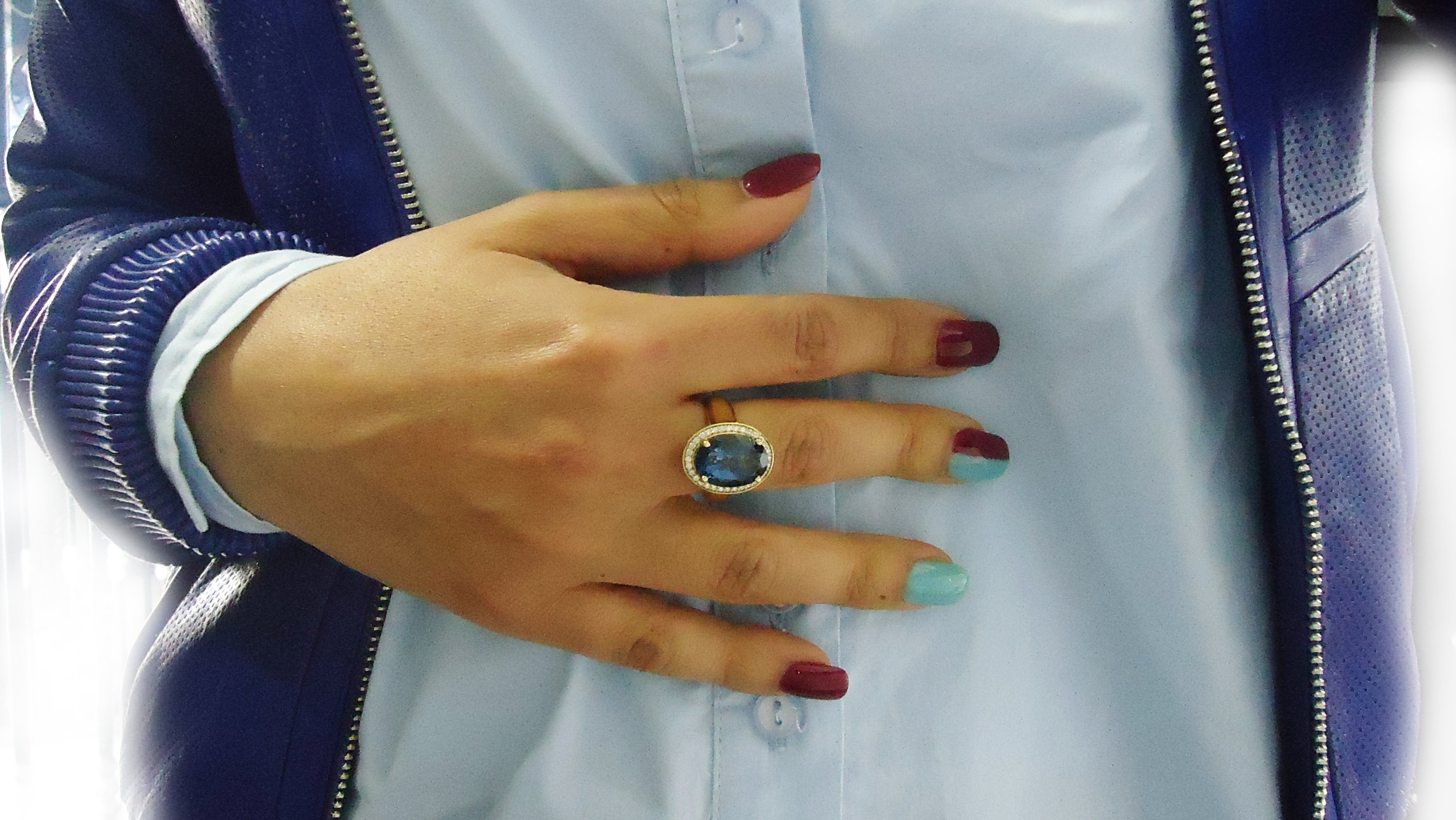 Topaz Vintage style ring!