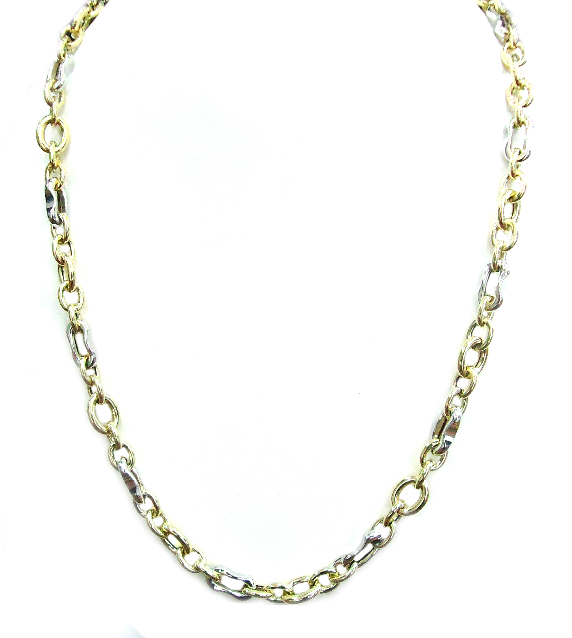 White and yellow gold chain necklace!