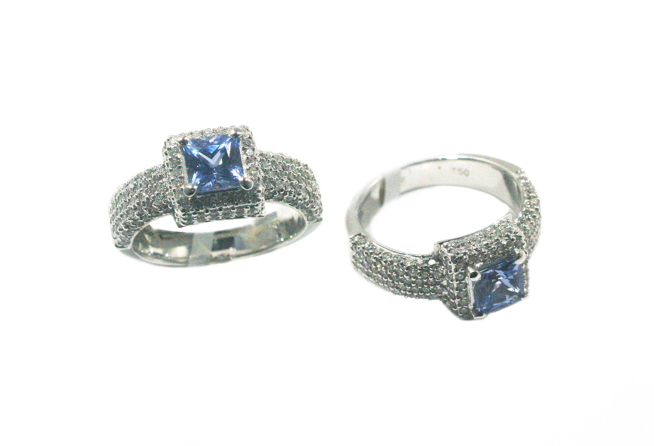Sapphire diamond ring!💍