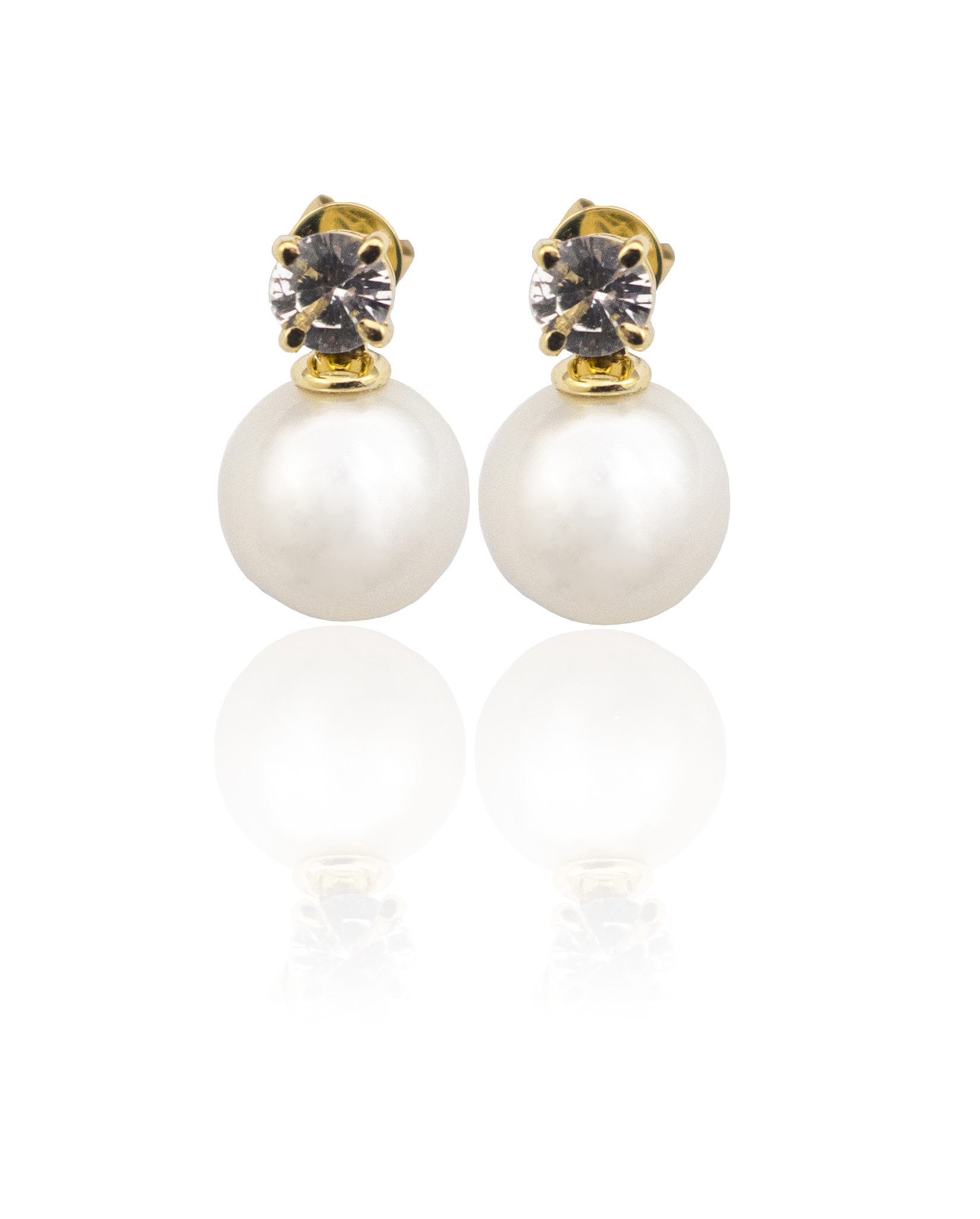 South Sea pearl & Sapphire earrings!