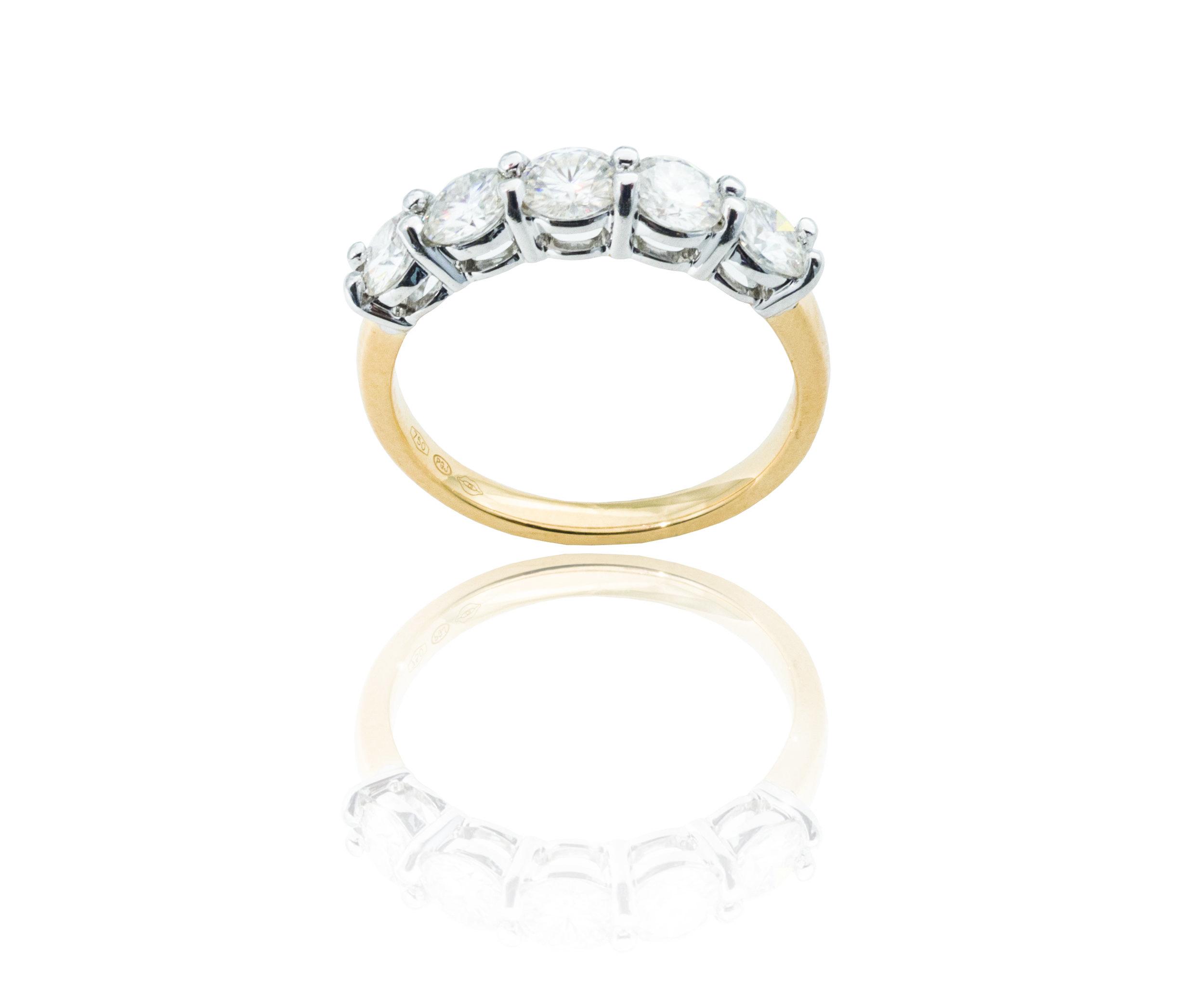 Moissanite gold ring!
