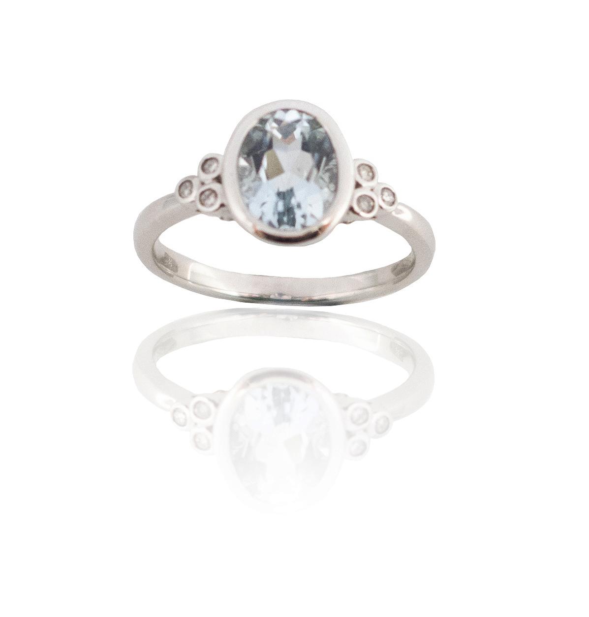 Aquamarine diamond ring!