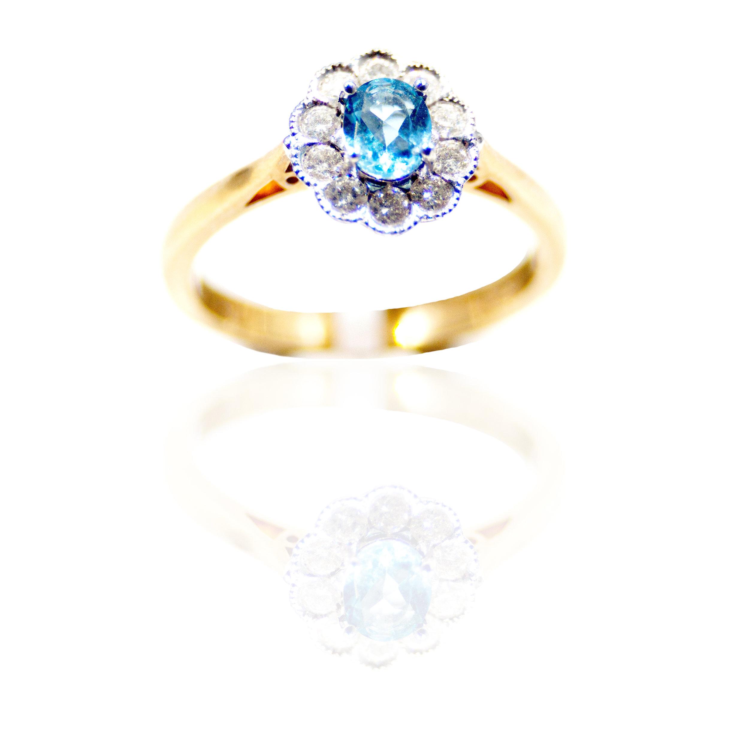 Aquamarine floral ring!