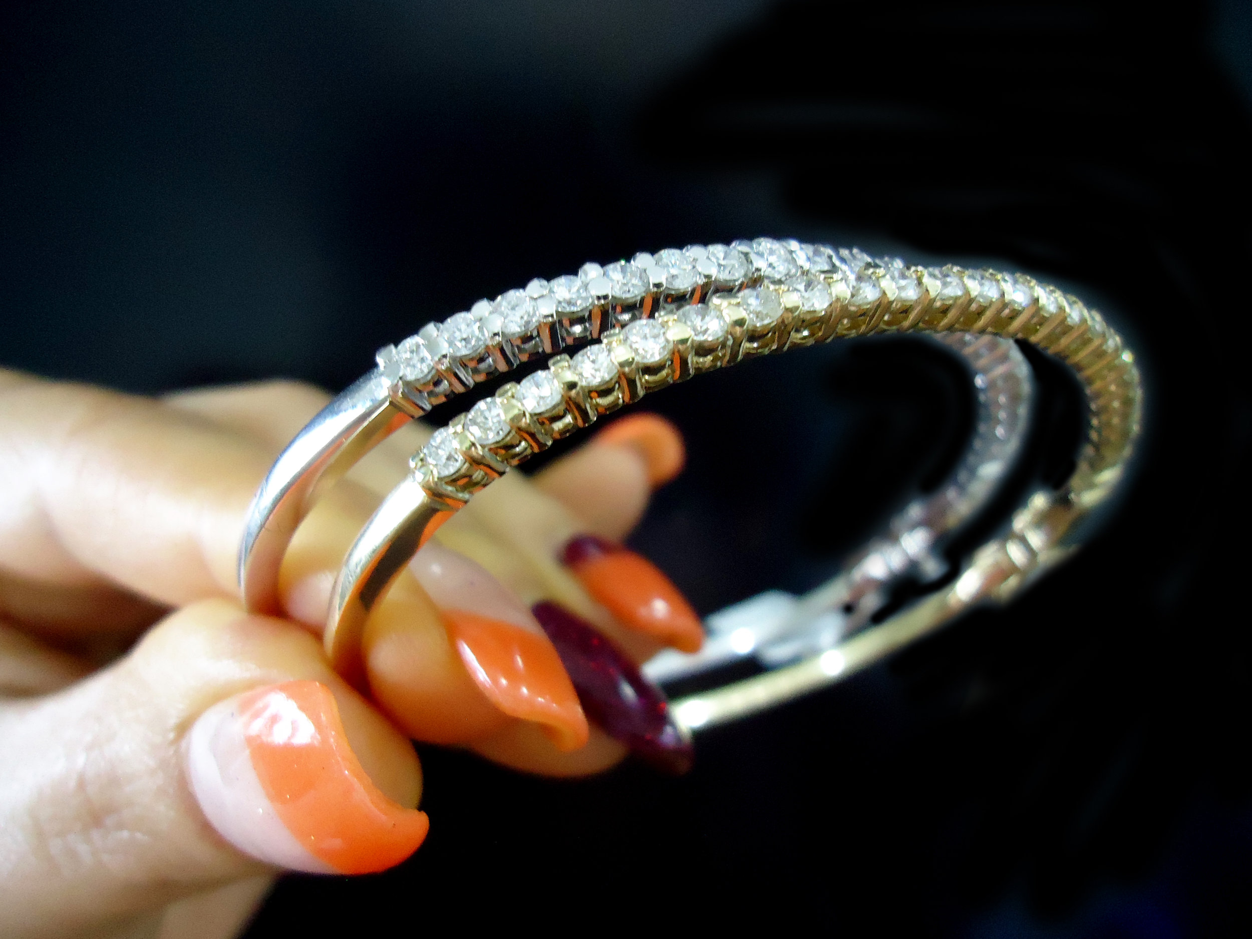 Diamond gold bangles!