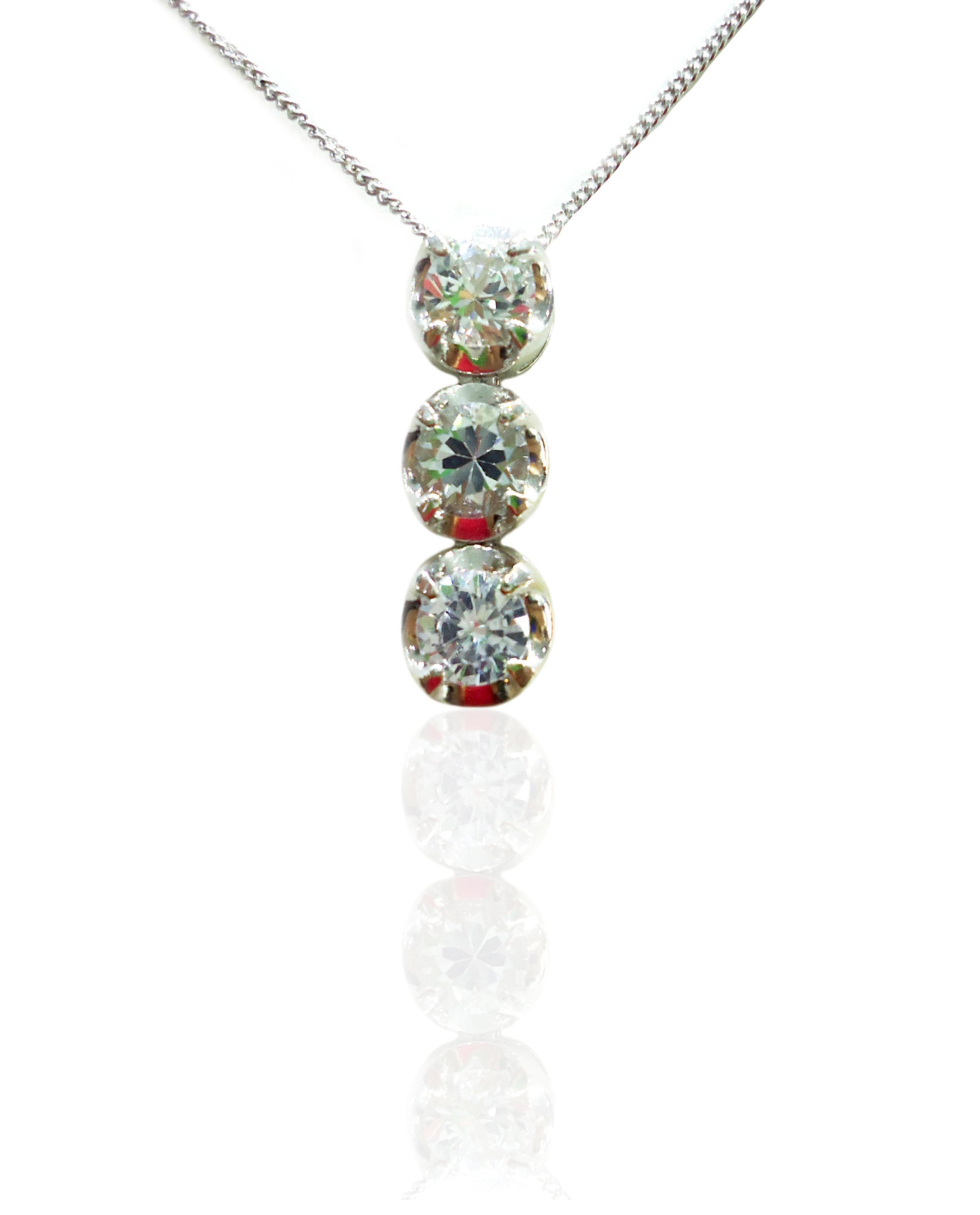 White Sapphire pendant!