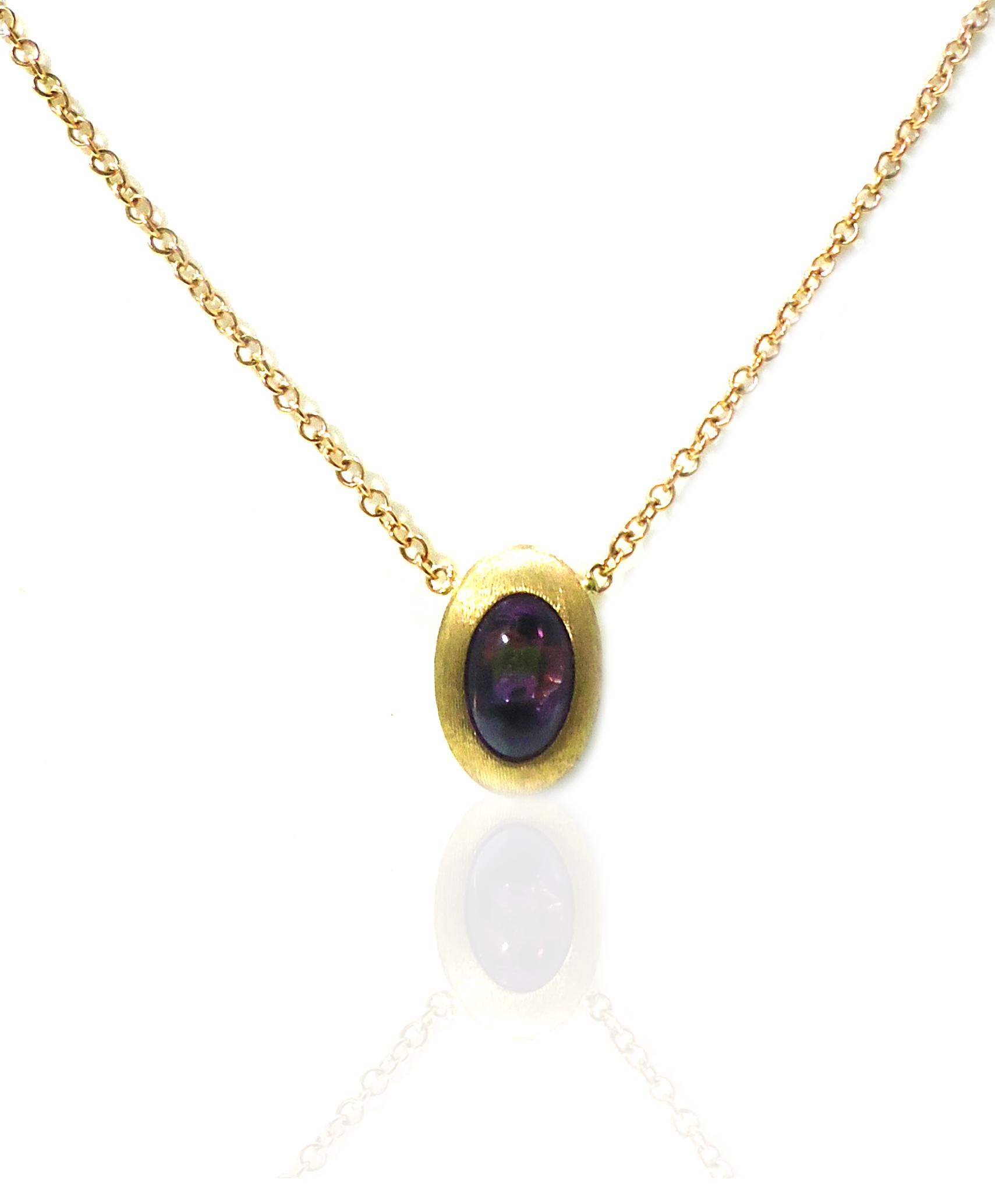 Amethyst gold pendant!