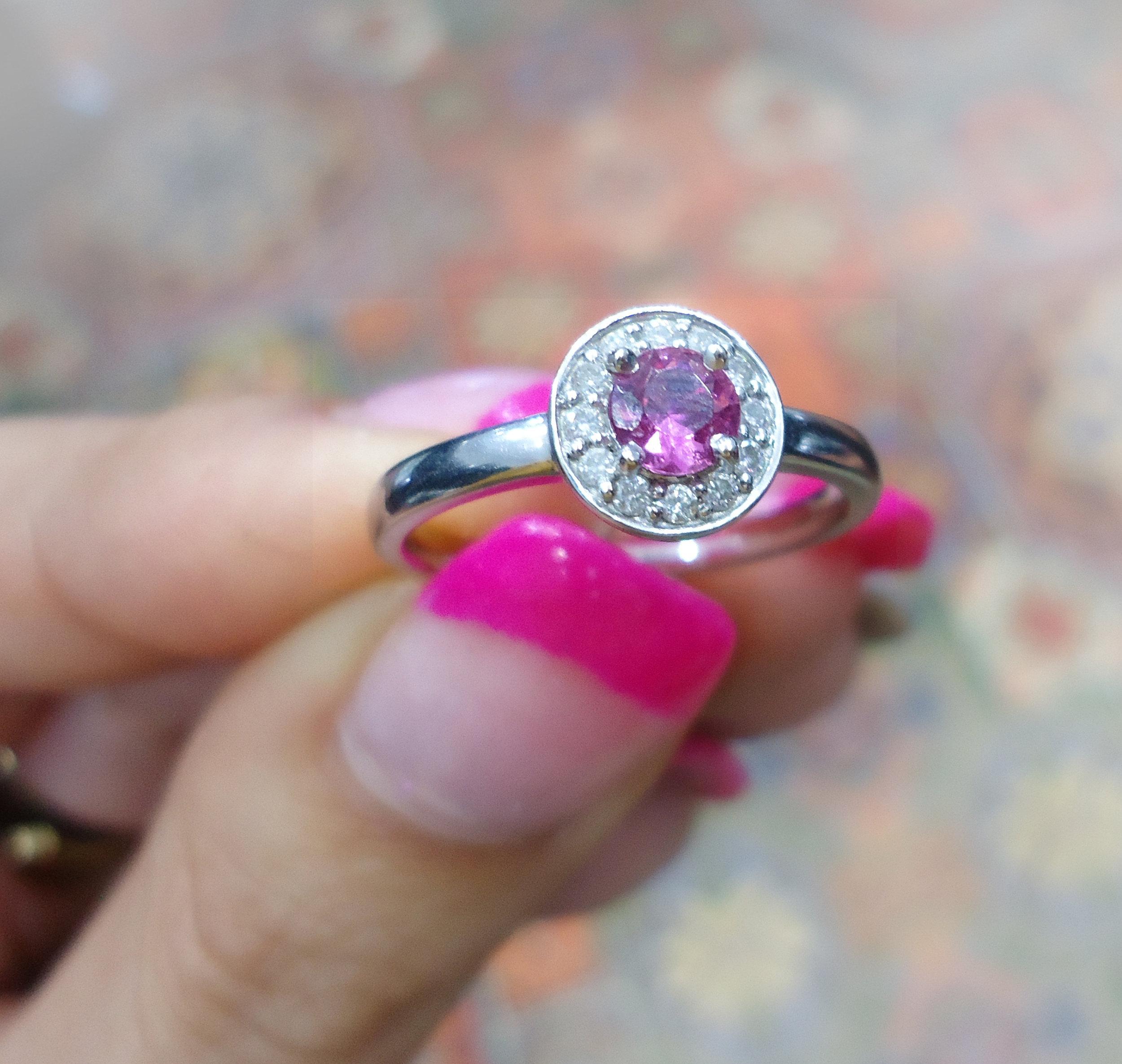 Pink Tourmaline & diamond ring!