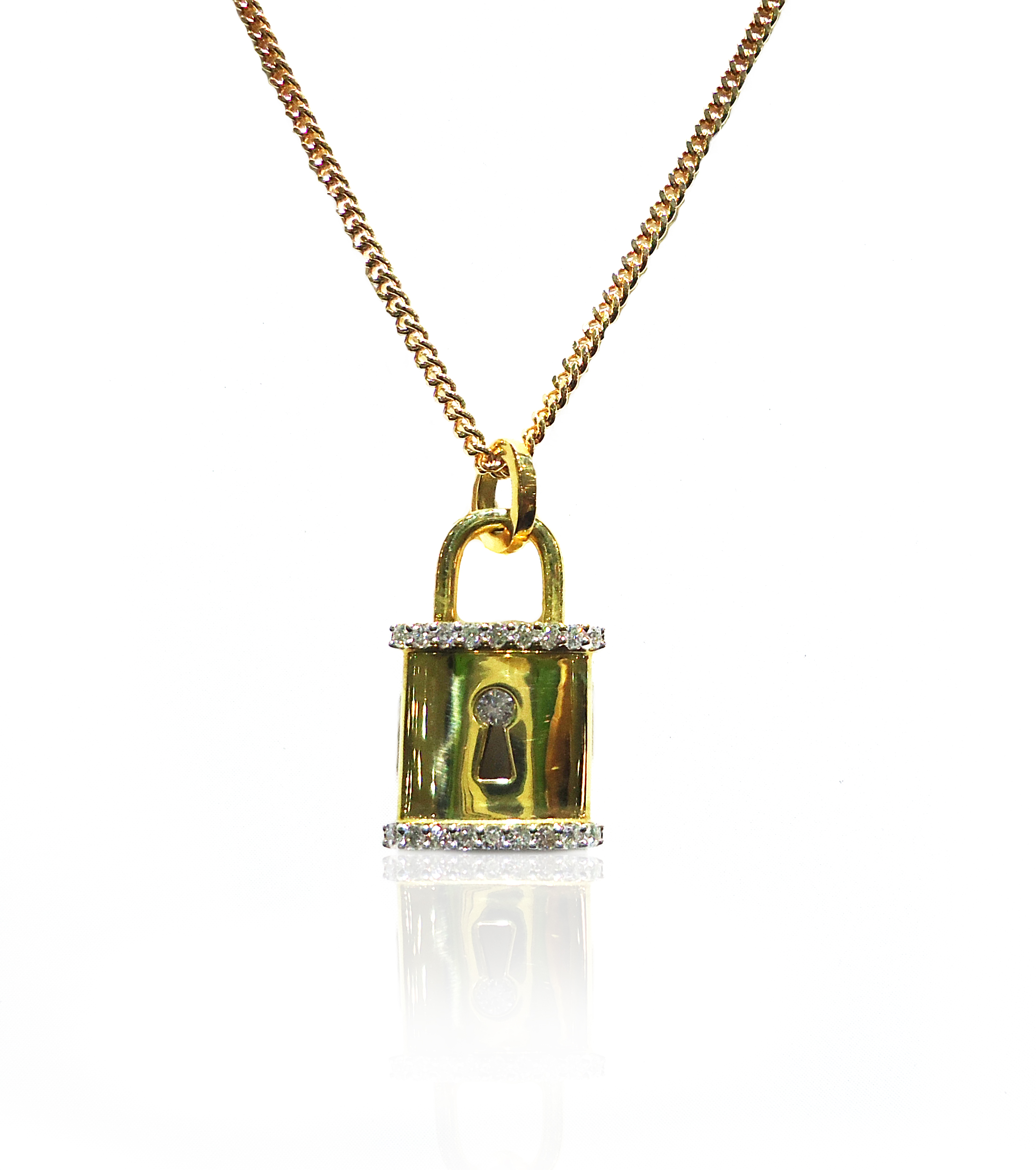 Gold Lock pendant!
