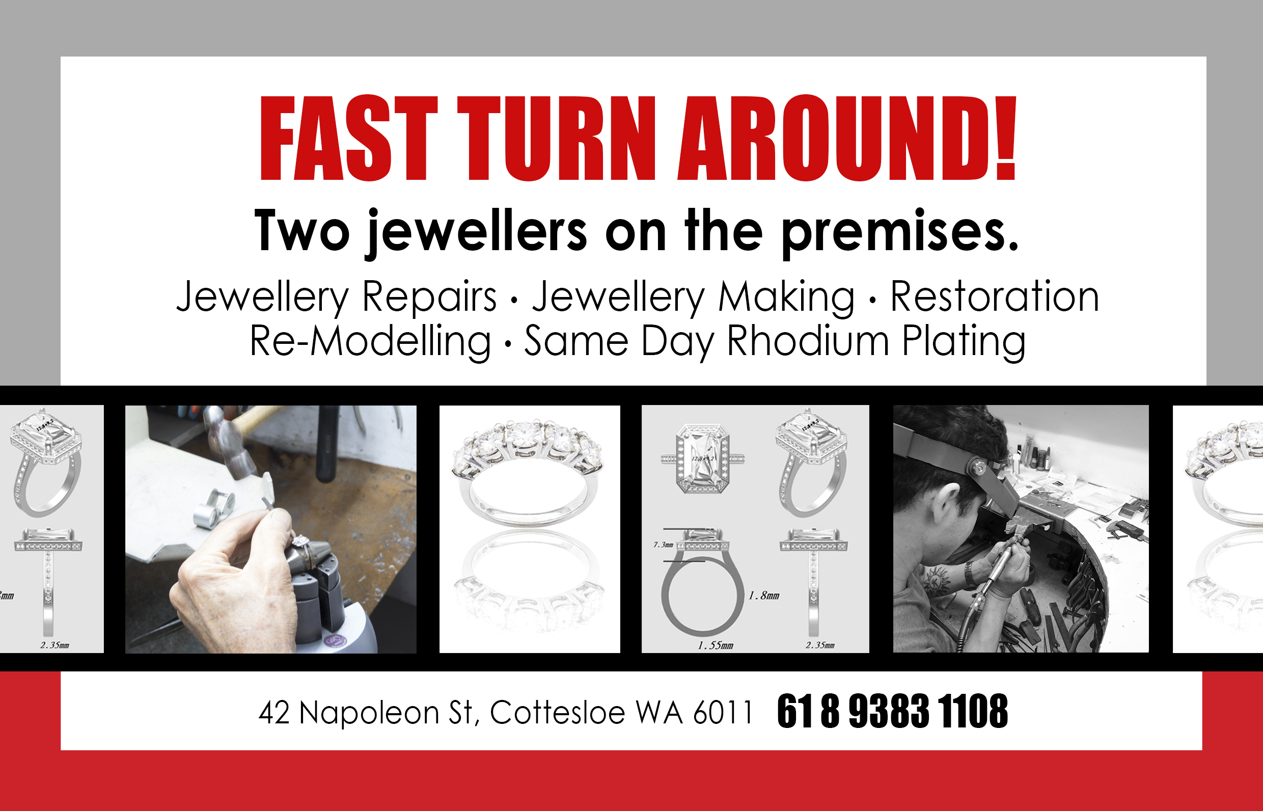fast turn around REPAIR rhodium 2 jewellers FLYER A5 googlepost.jpg