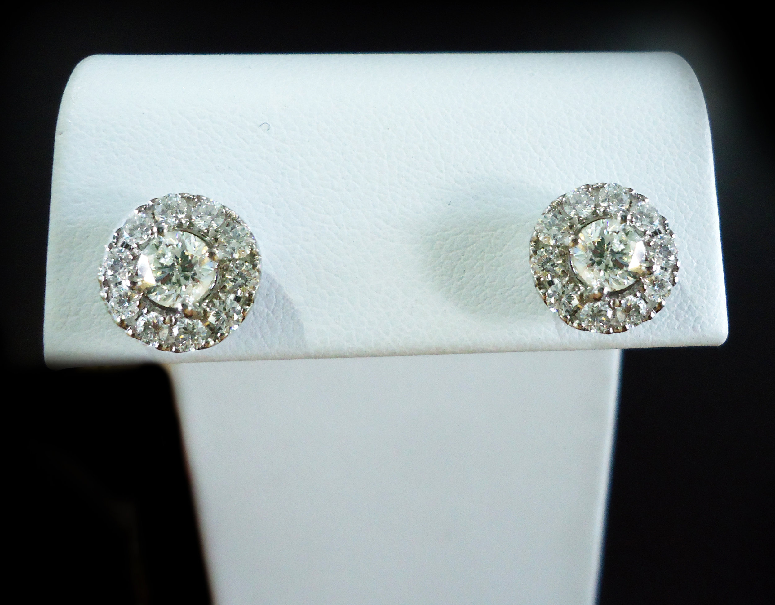 Diamond halo studs!