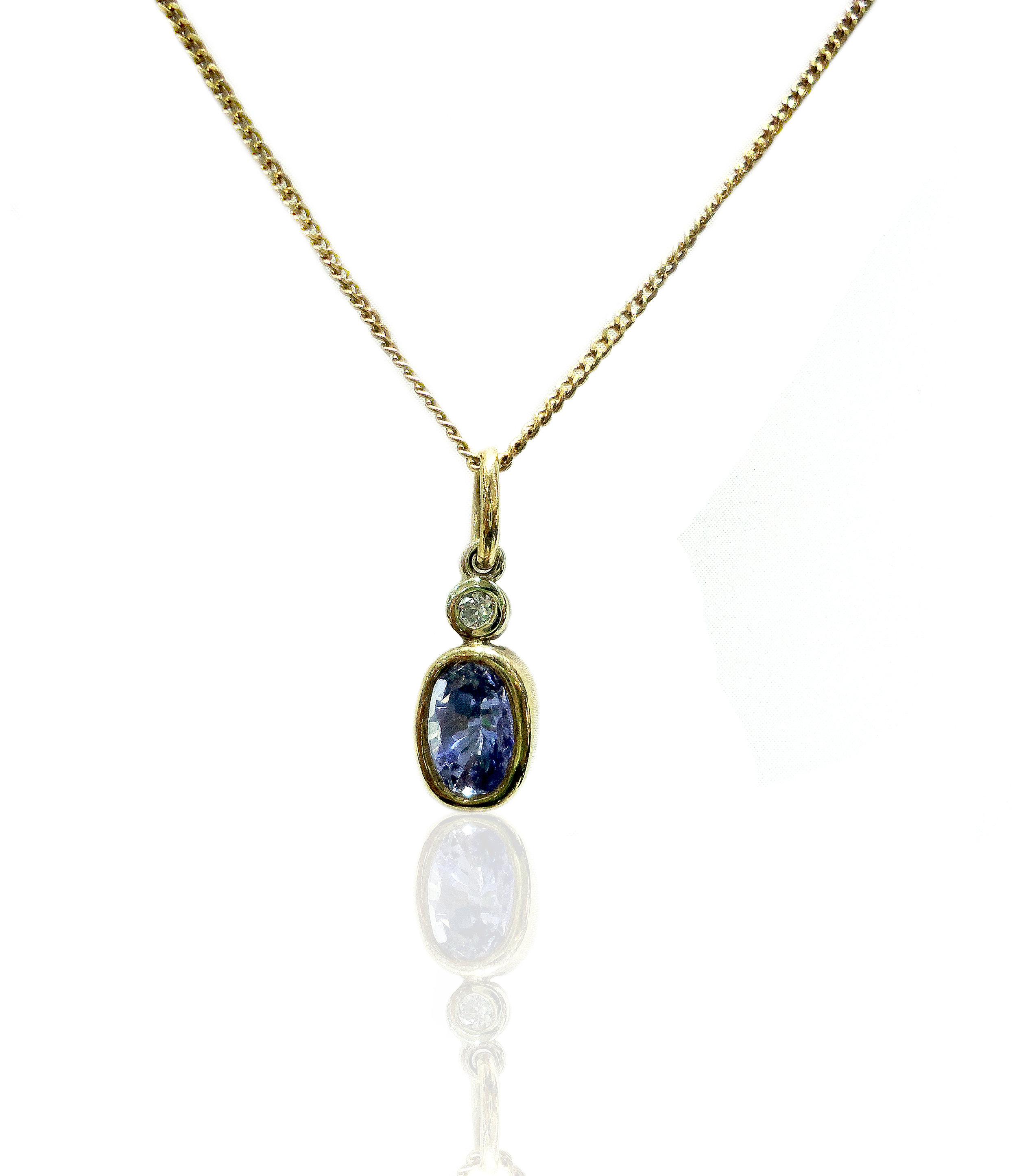 Sapphire and diamond pendant!