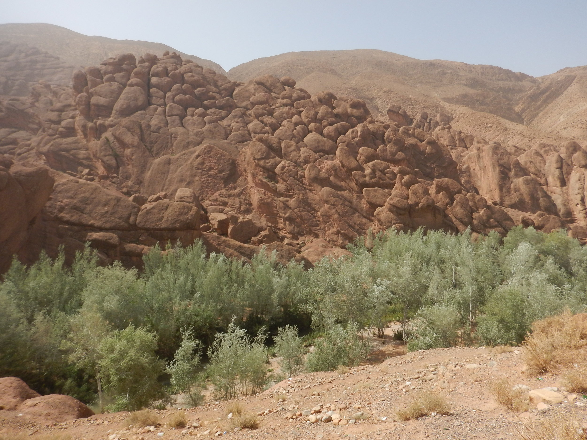 Dades Gorge and its weather rocks