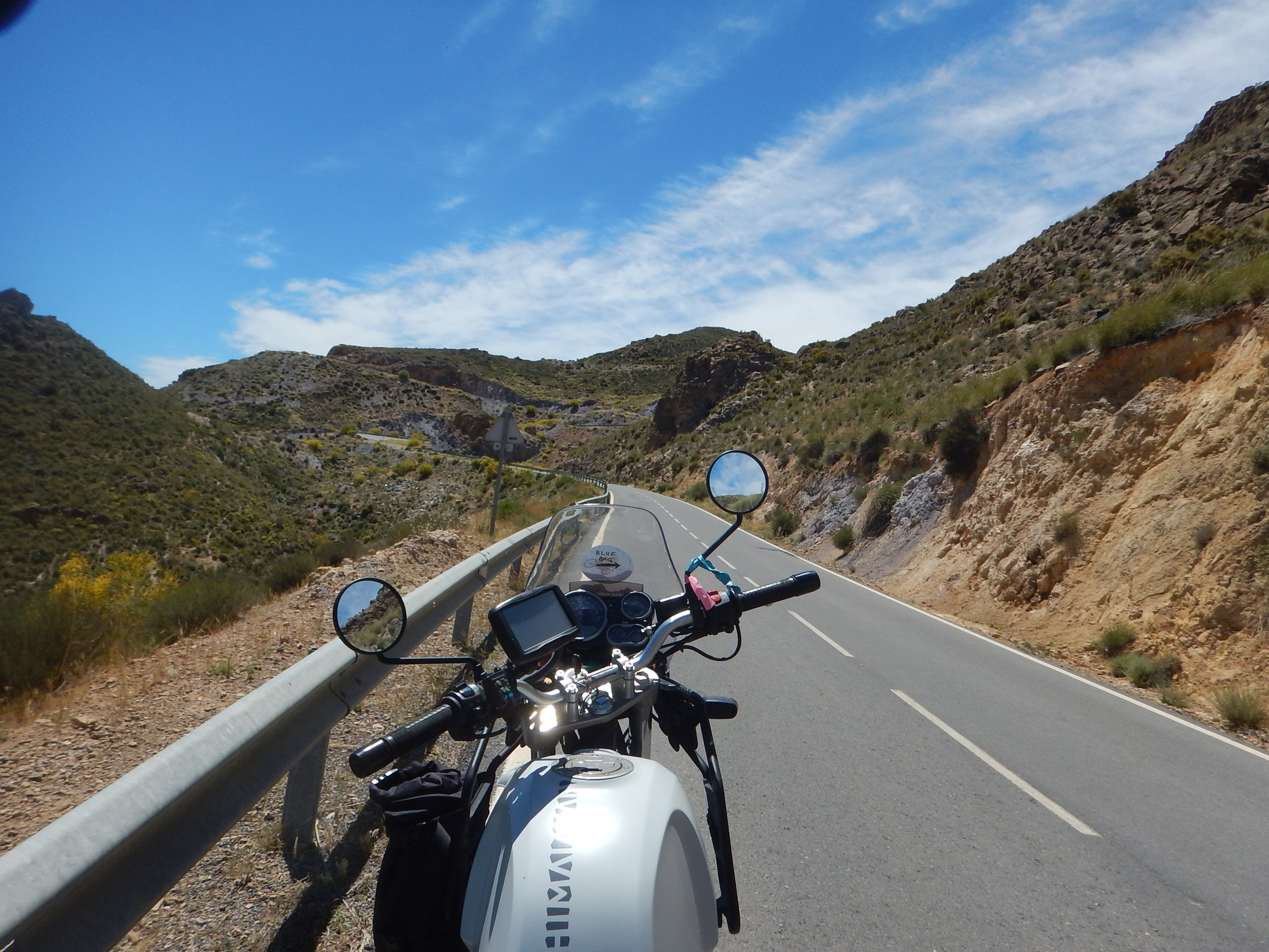 looking up at more windy roads.