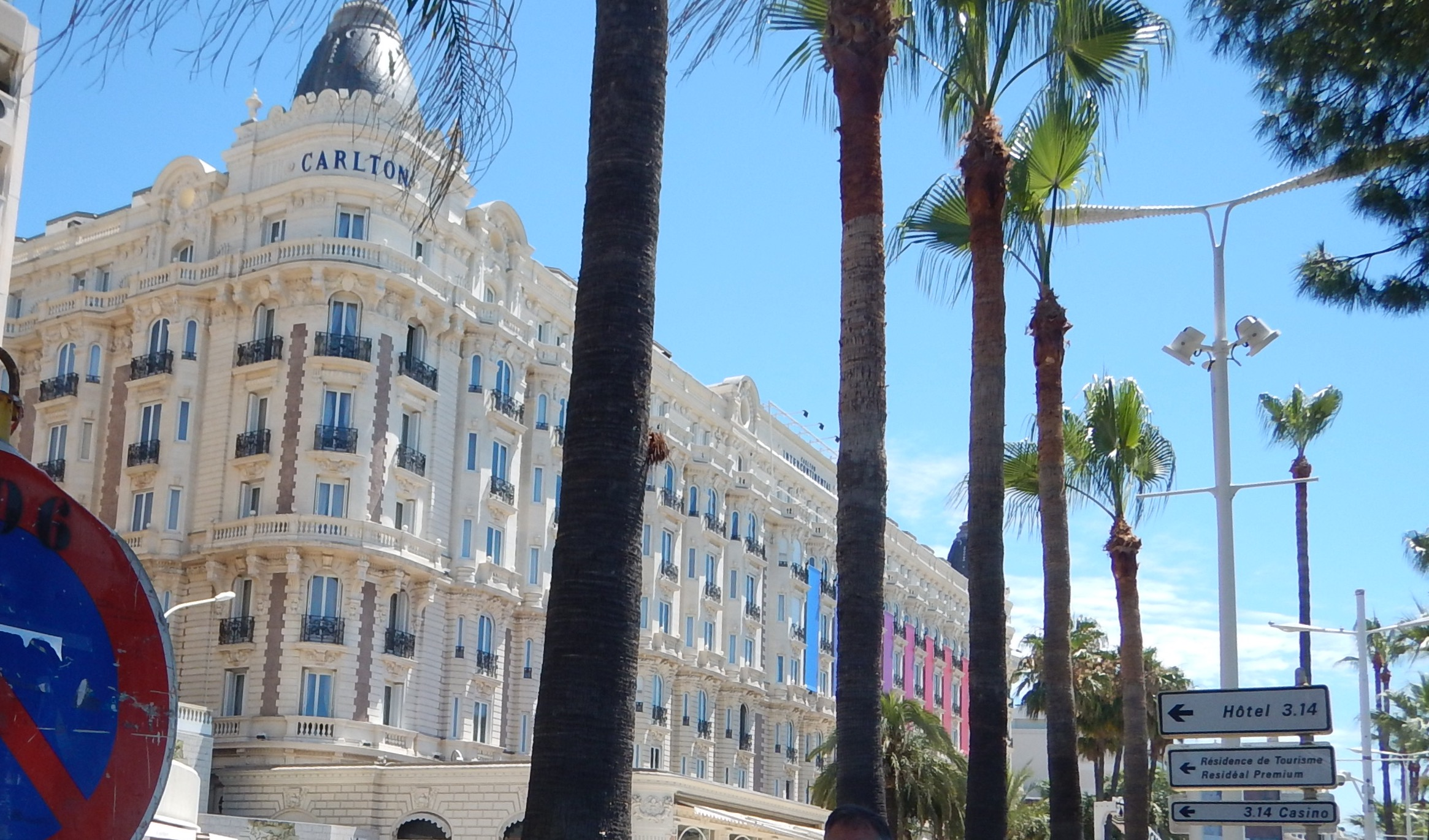Cannes Carlton. No sign of Margaret or David. I wonder what they are doing now??