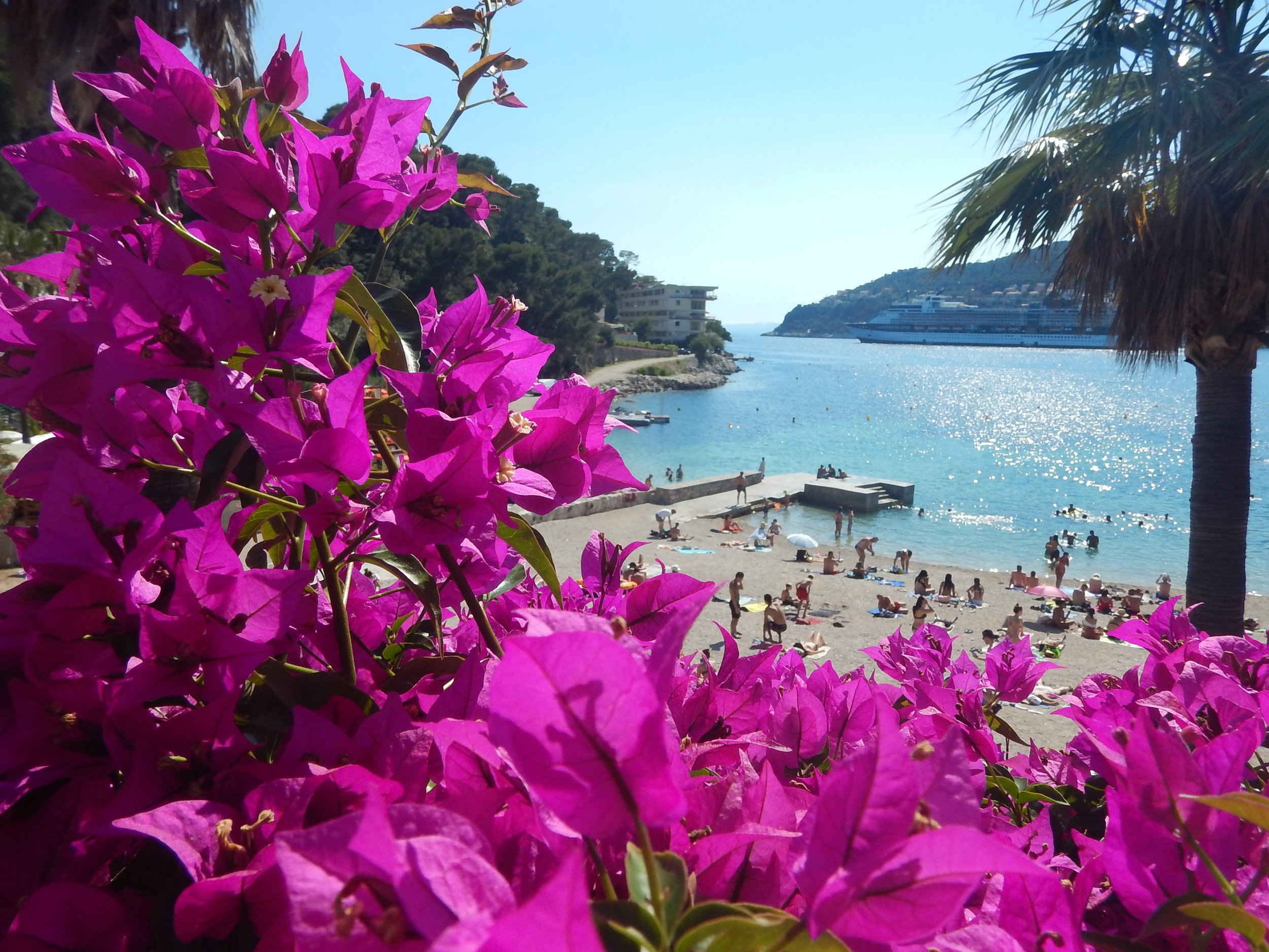 On this beautiful little cove just along from the Monte Carlo Marina.