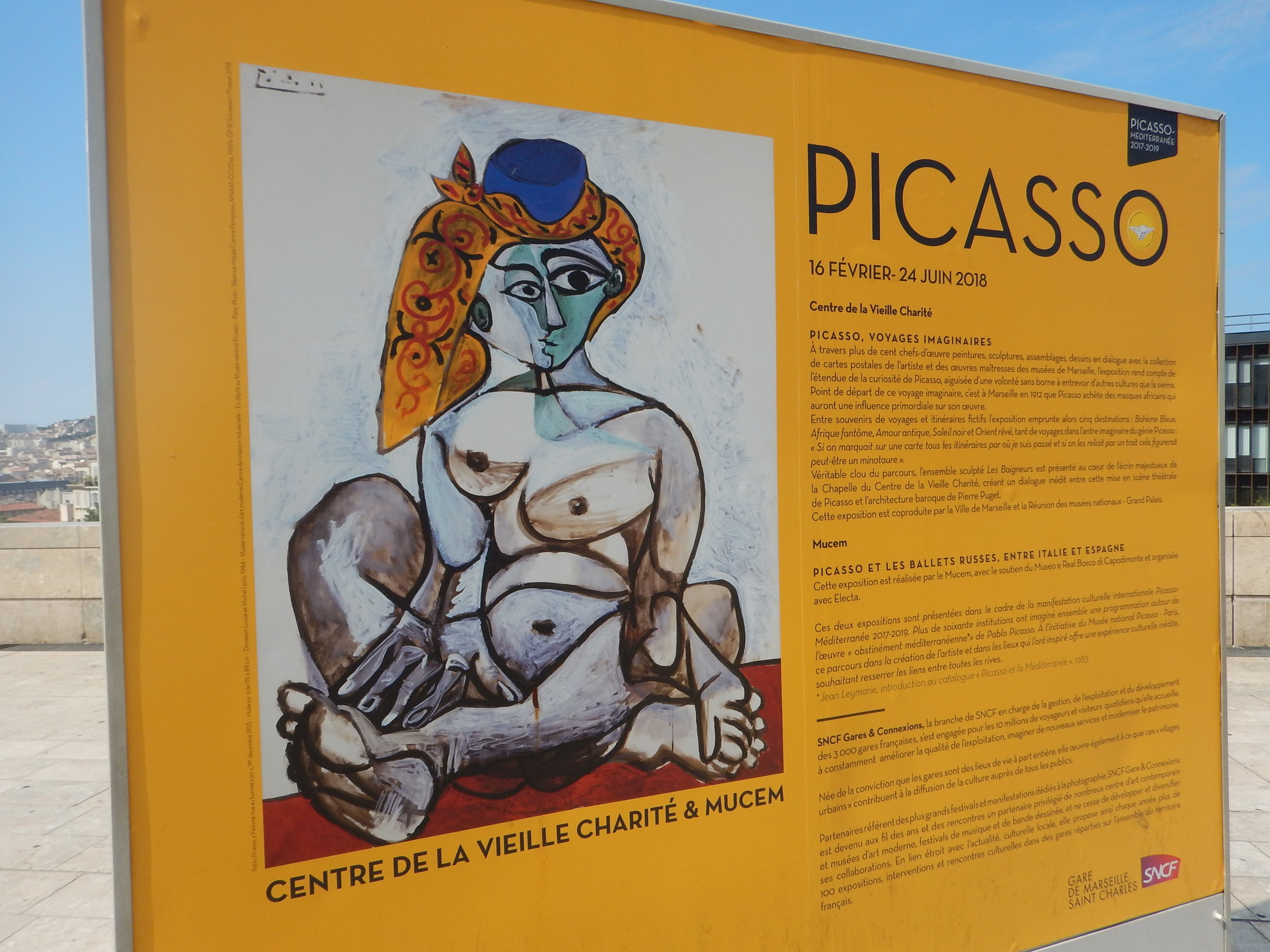 Picasso exhibition in town.