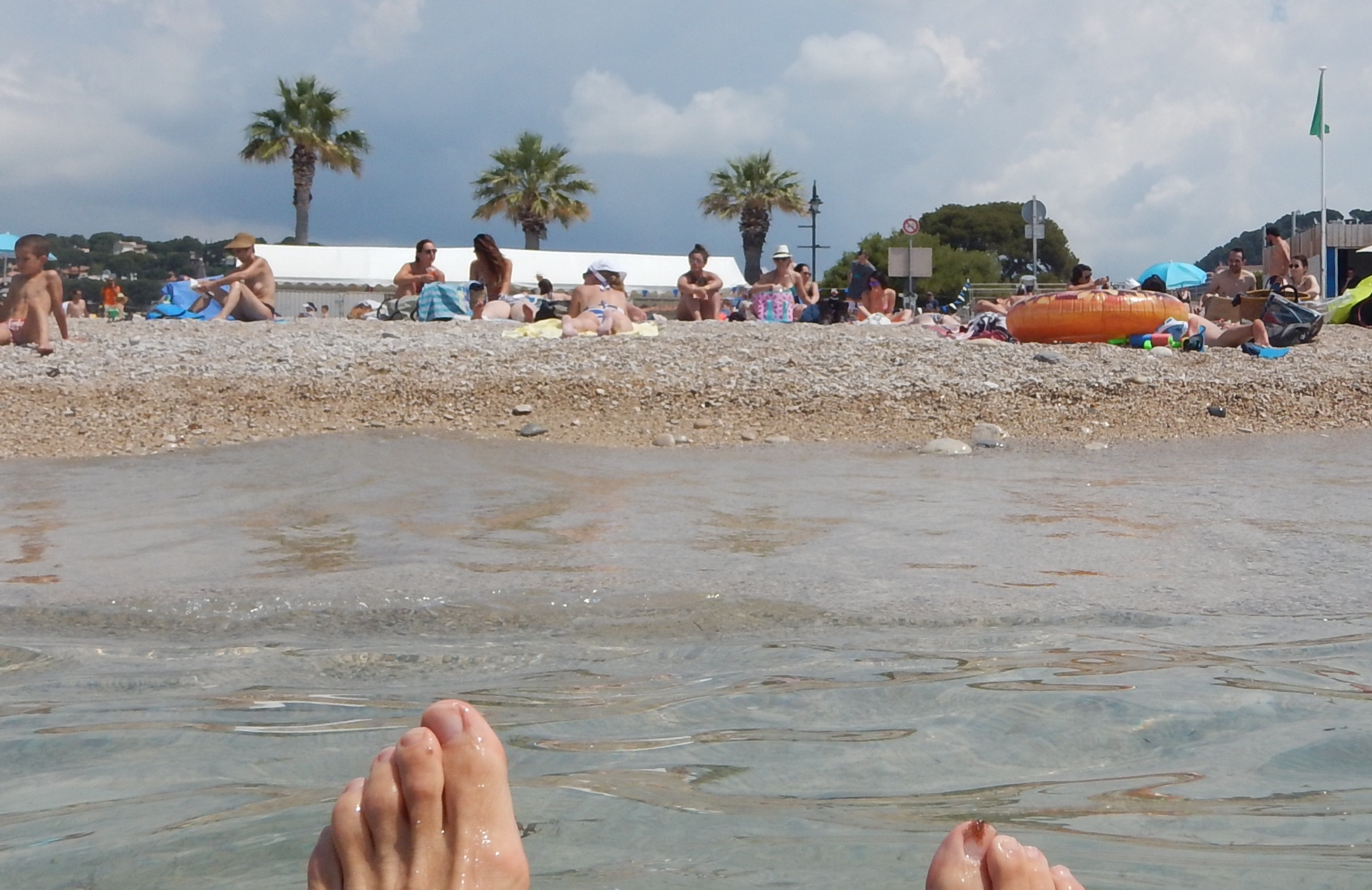 Yes, I did enjoy my swim, then back on the bike and off to St Tropez for more swimming.