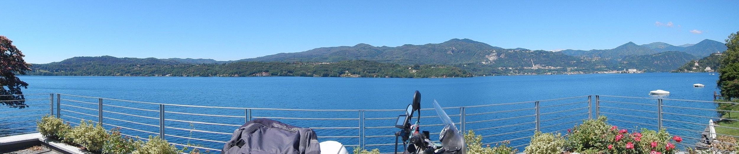 pano of Lago d'orta