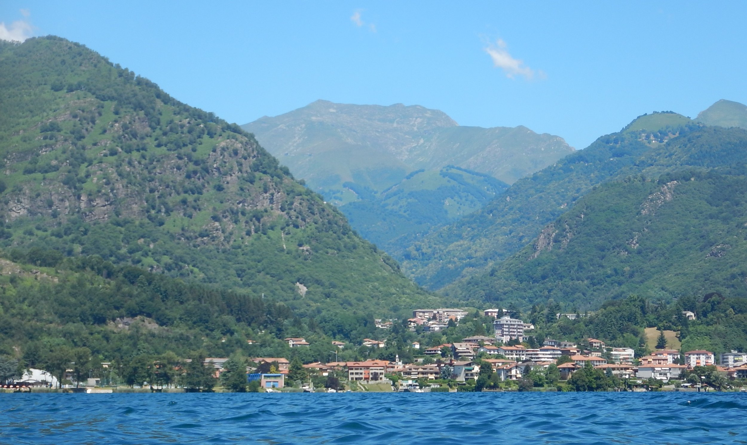 another village across the lake.