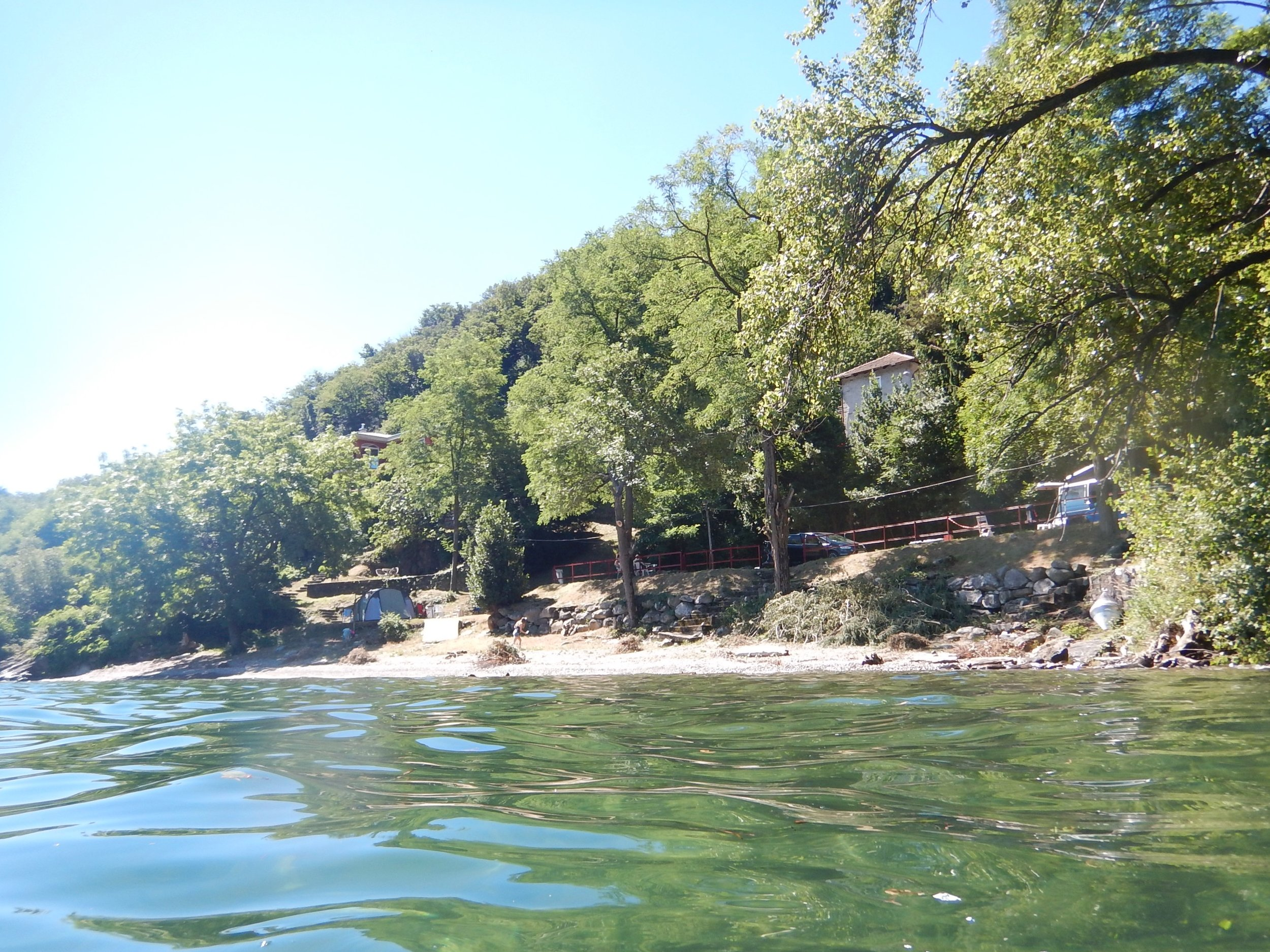 I snorkelled around to the next beach, used for camping. All set up with toilets, community kitchen and laundry.