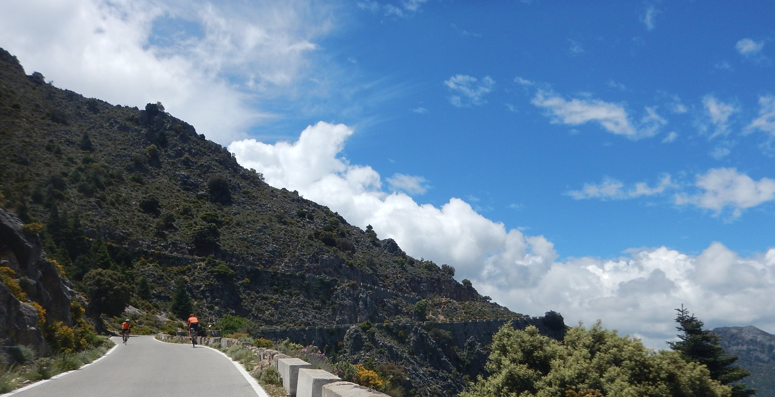 near Ronda in southern Spain, this road had many zig zags as it went up over the pass.