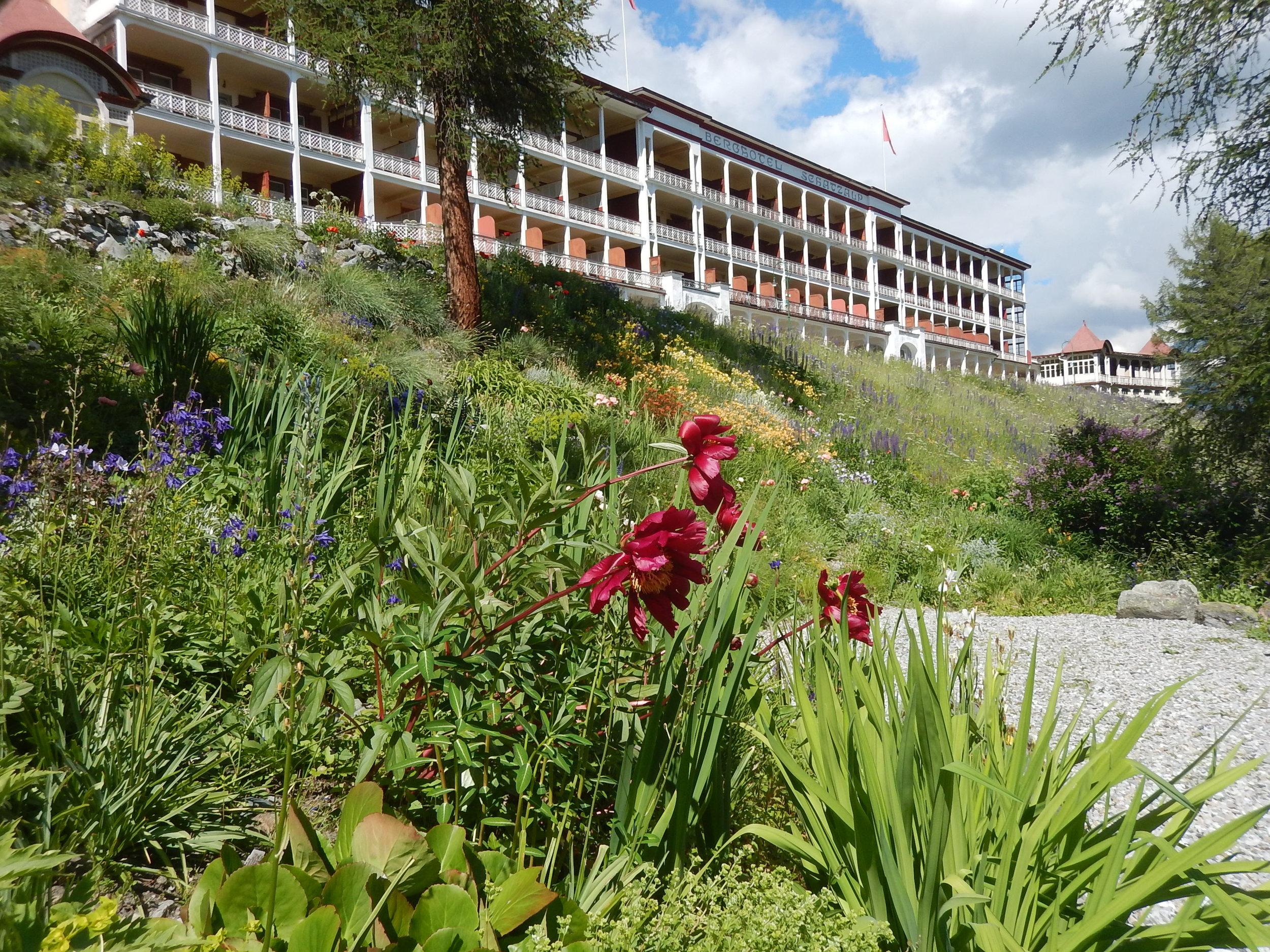 Schatzalp hotel. My room is at the back facing the ski runs.