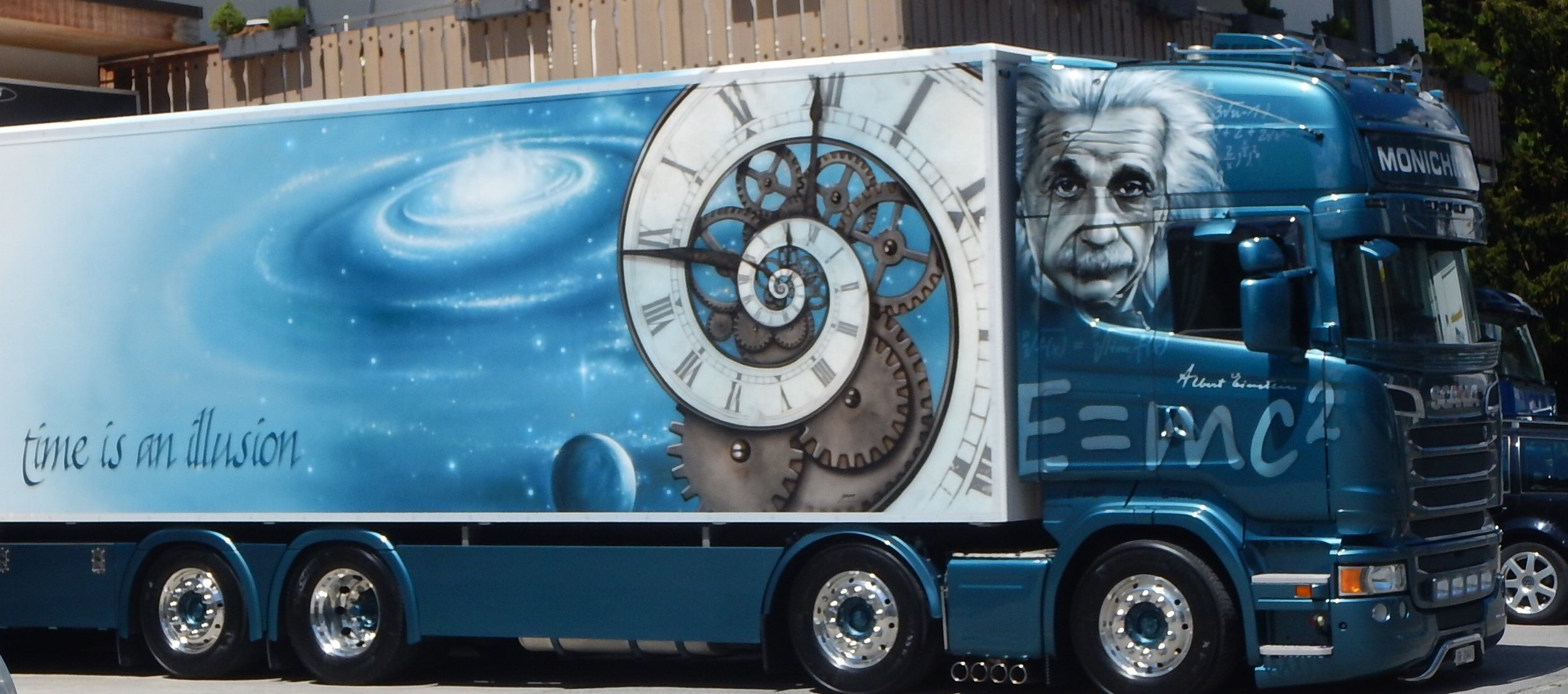 In town I ride past this truck. Good Ol' Fibonacci. Very timely that I should see this today.