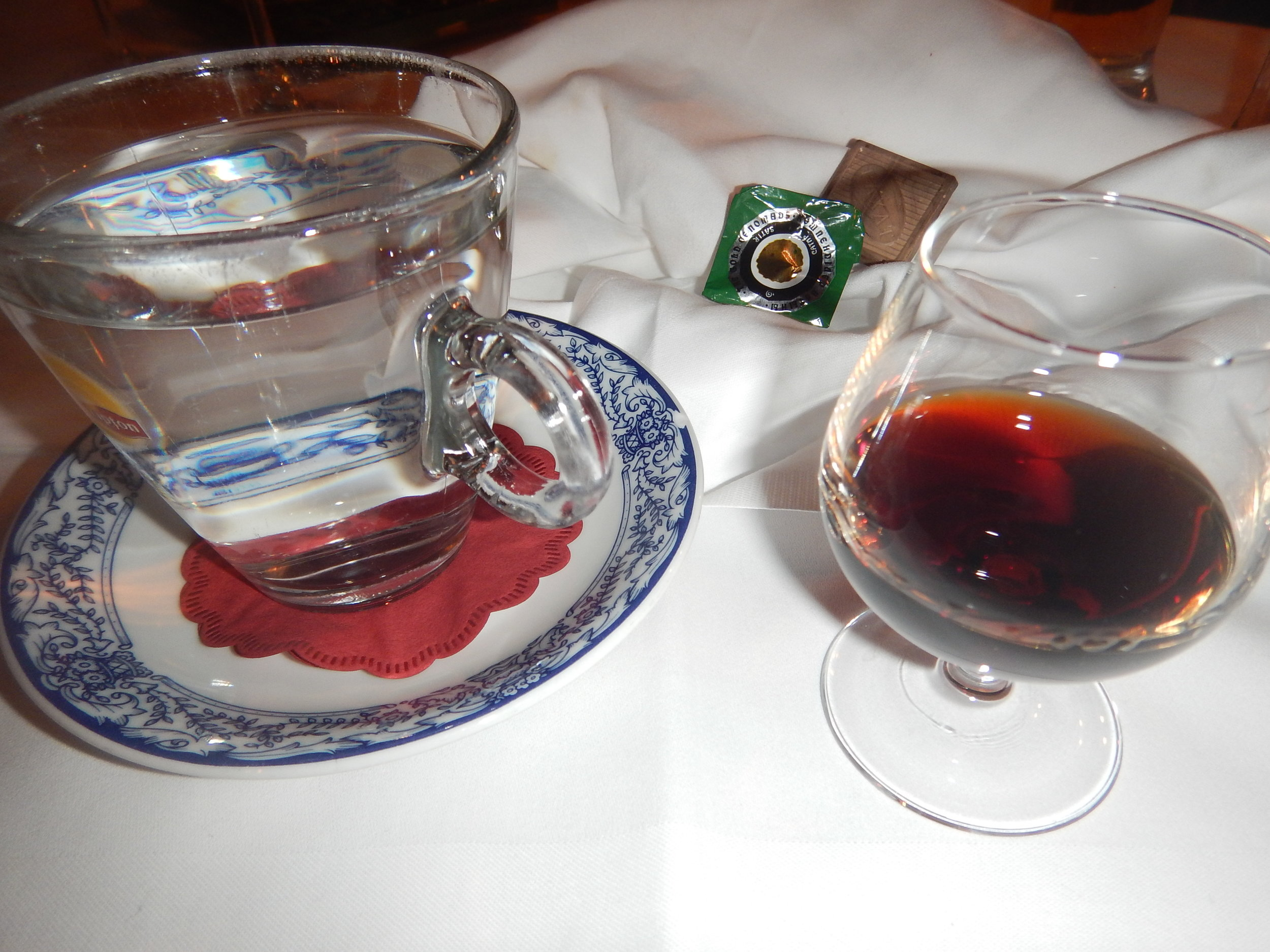 Sipping cherry SchnappS at Schatzalp reStaurant. I can't believe there is no S in chocolate!!