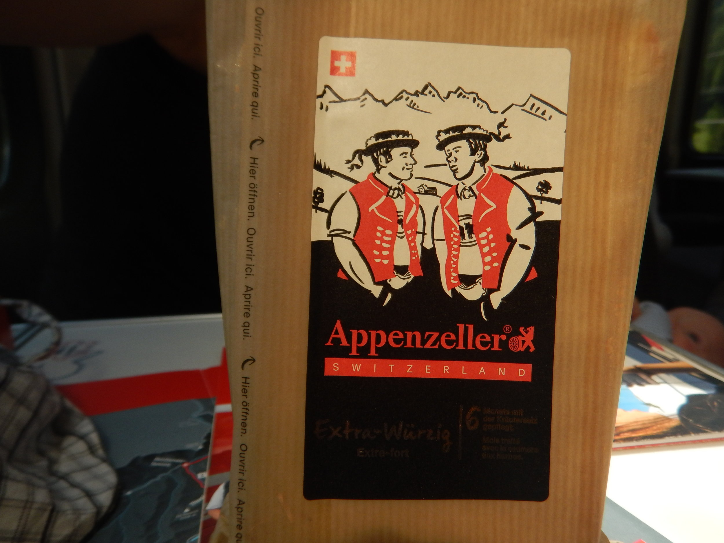 this cheese is so Swiss you can hear these guys yodelling.