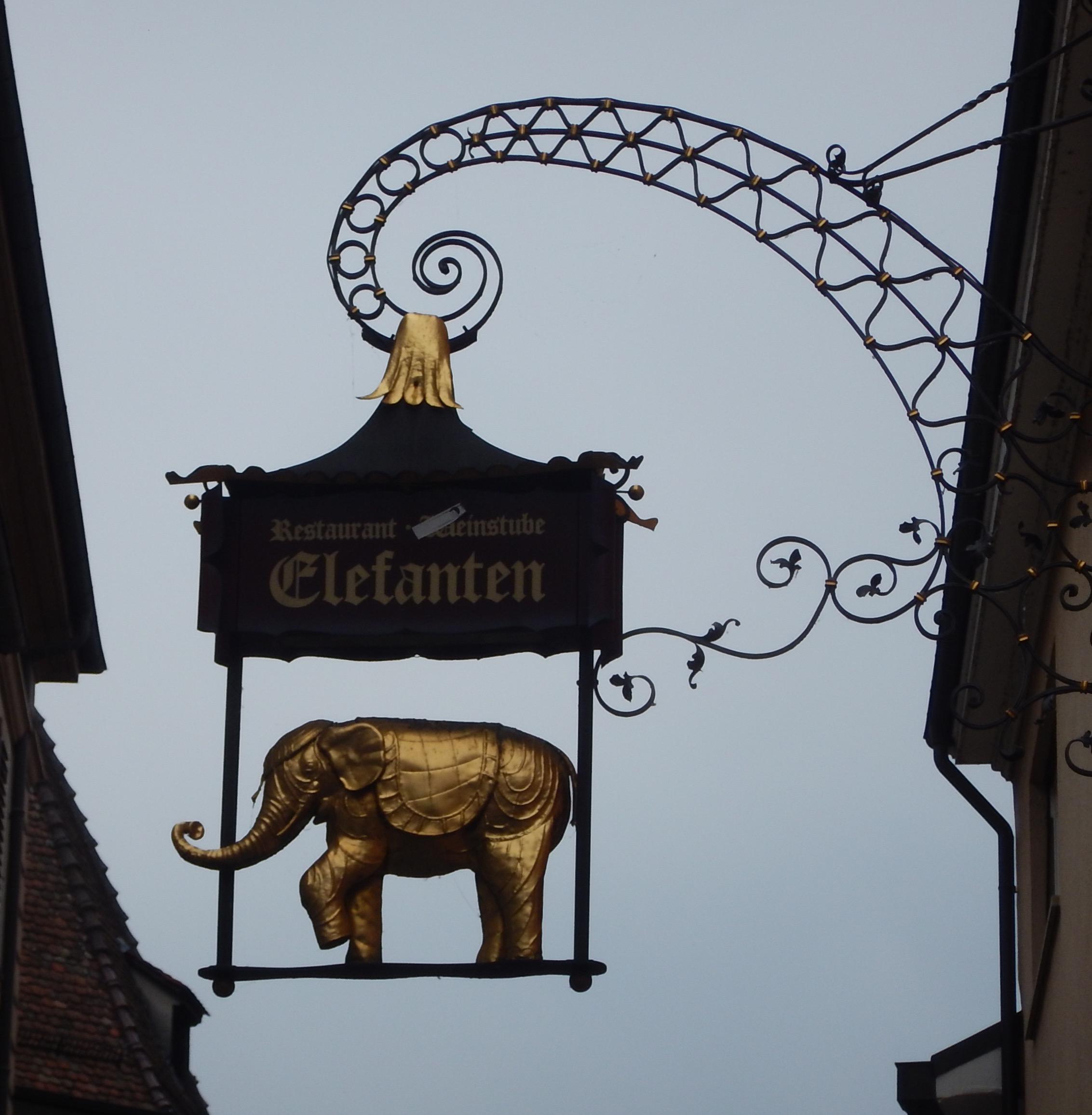 Elephanten Restaurant in Konstanz, Germany.