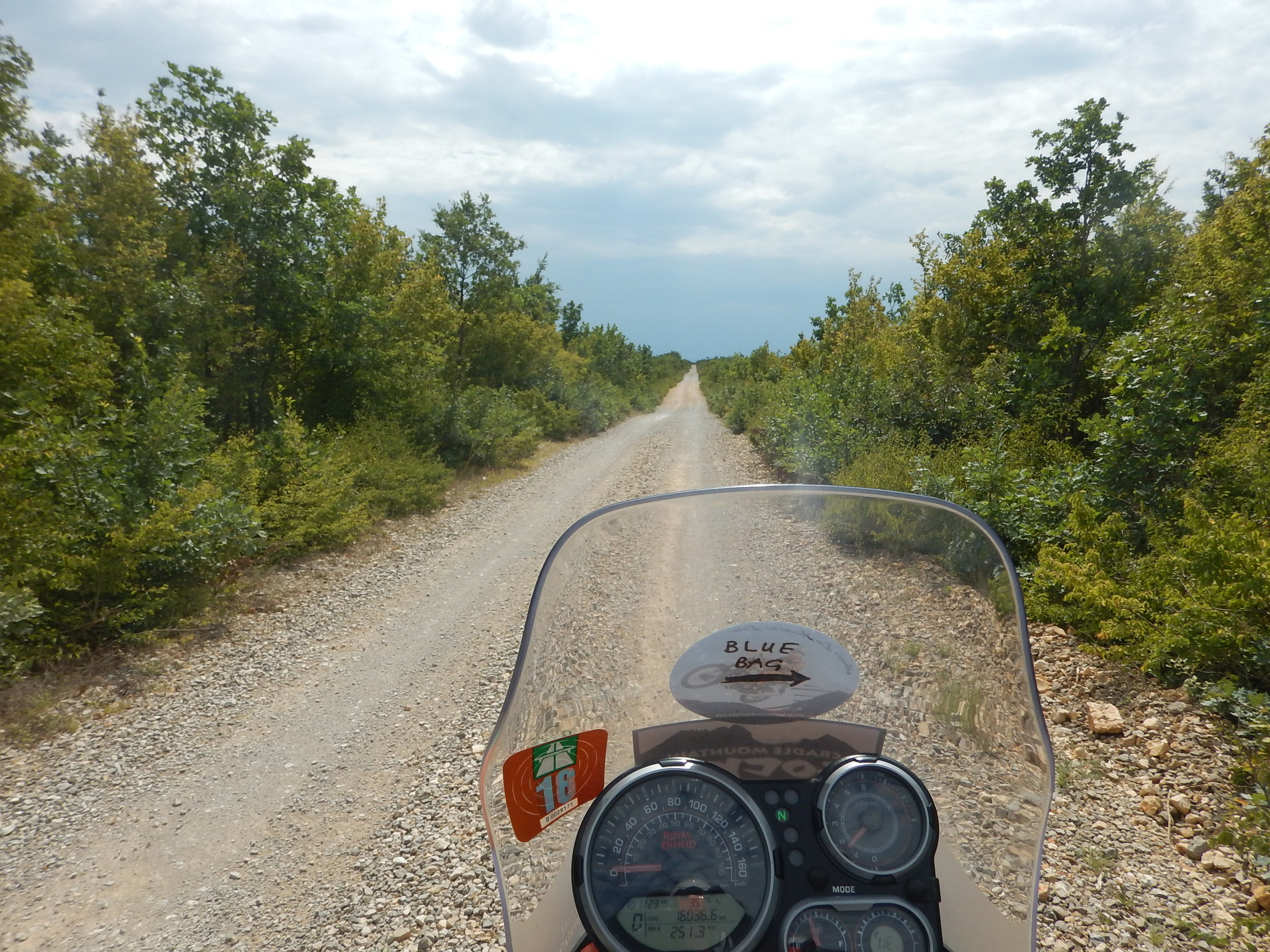 Oh, yes I travelled about 20km on this unsealed road