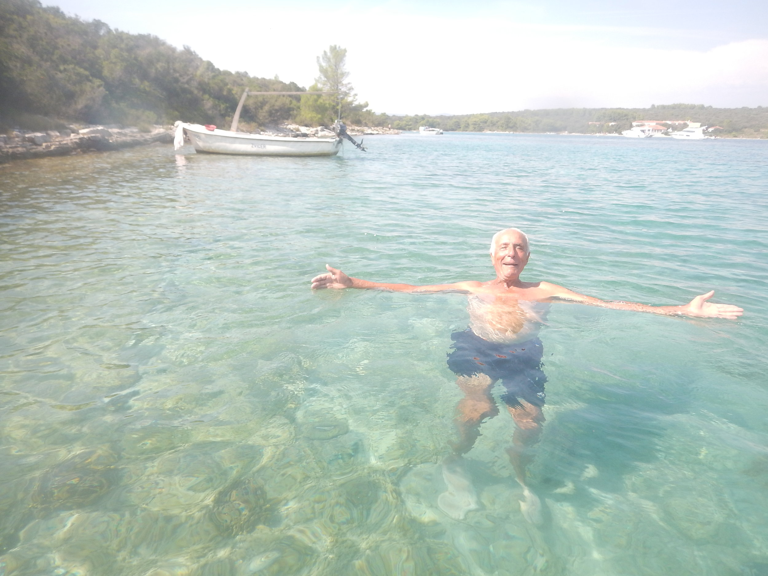 more swimming and chatting on this little bay