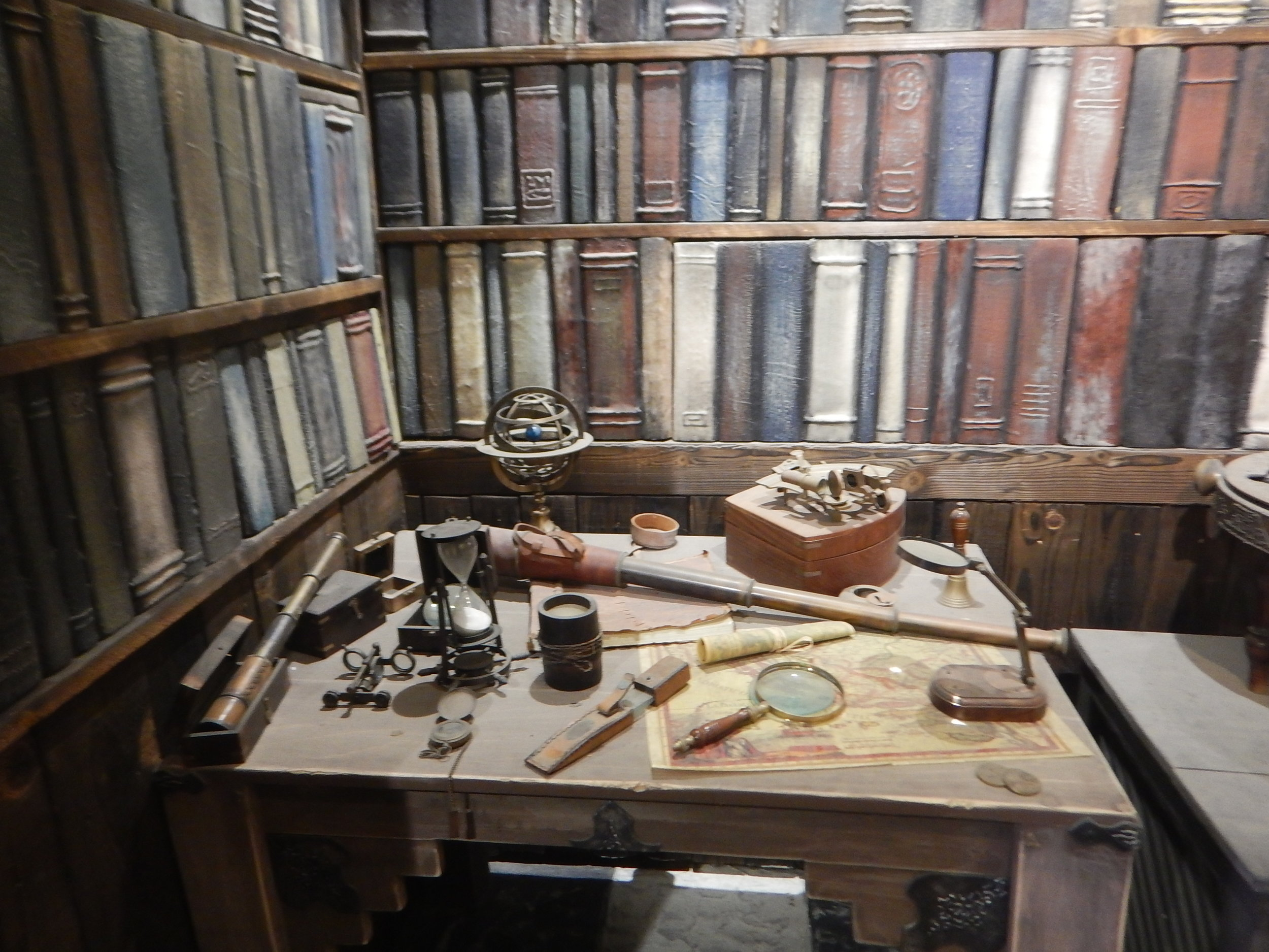 Museum room showing desk on the ship