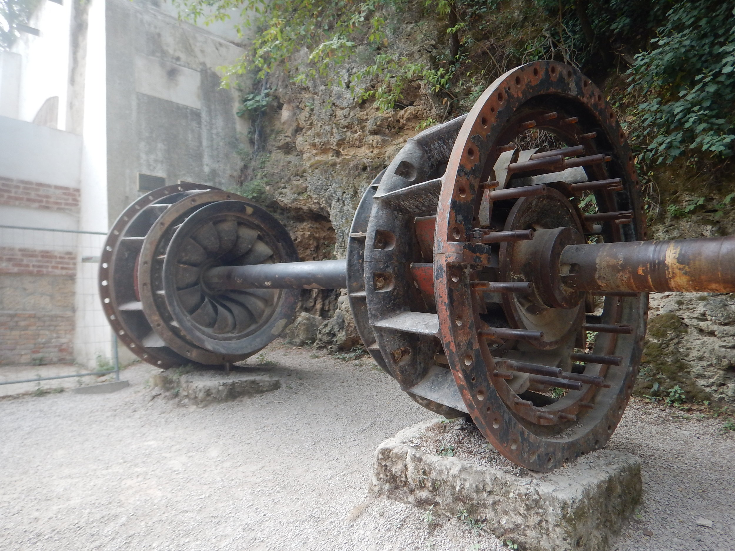 what remains of his original turbine in Krka National Park.