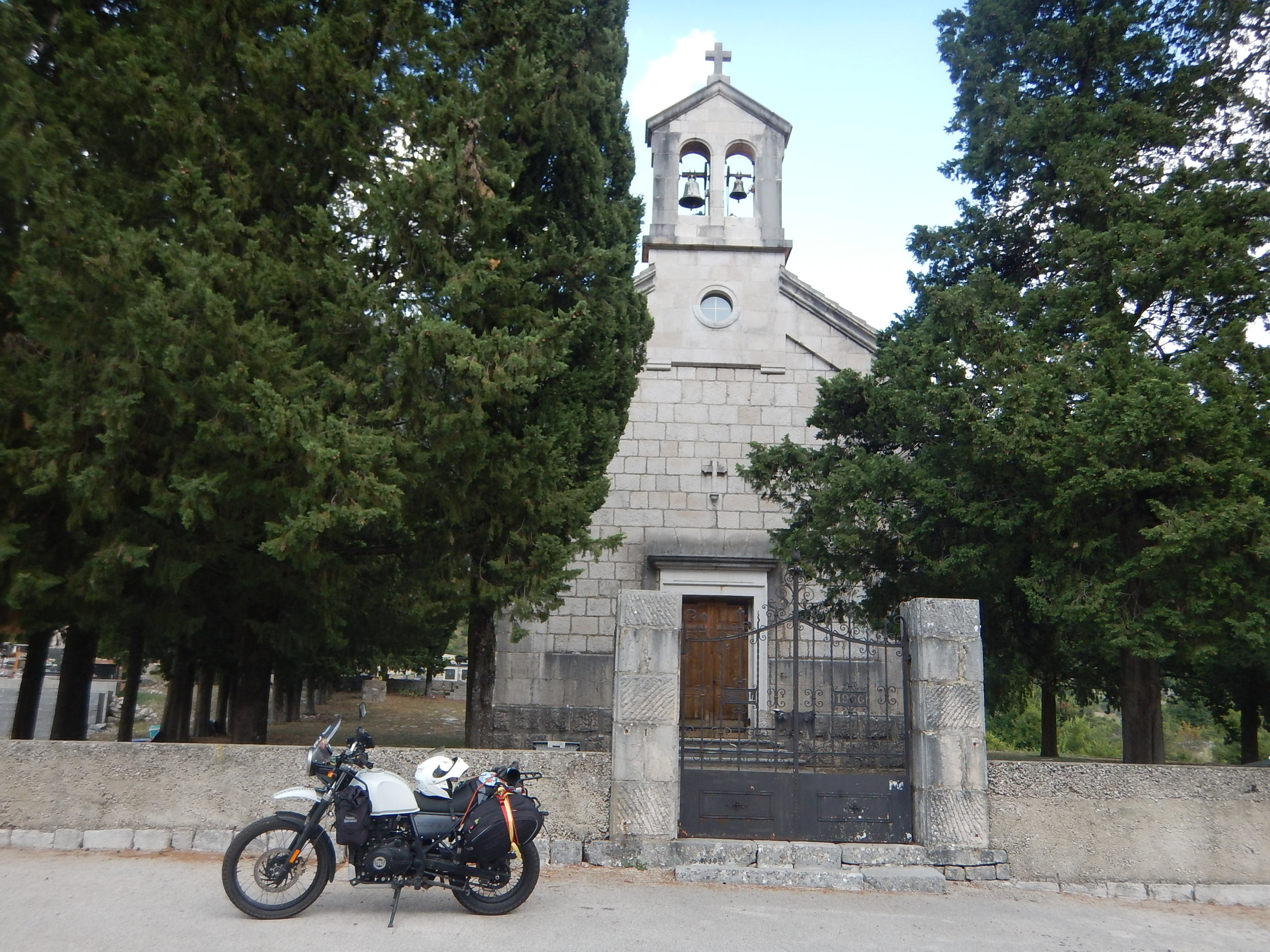Ivan's Church surrounded with scented cypress.