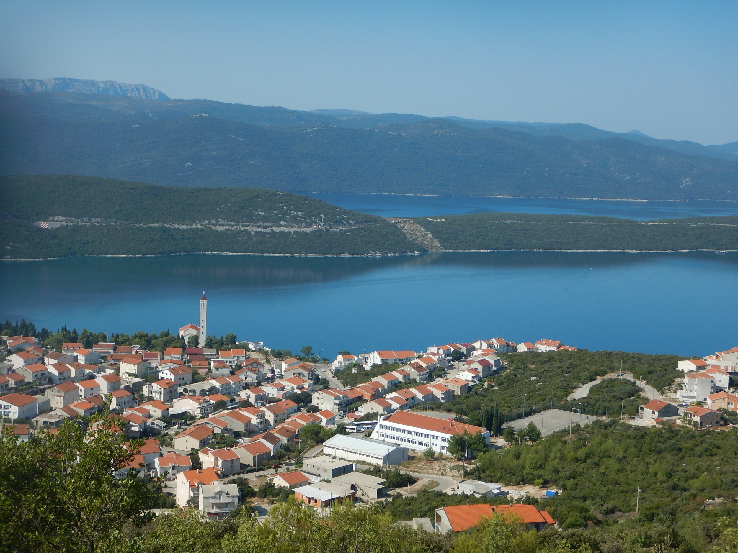 over the hill and back into Croatia and the Mediteranean Coast where the Neretva silently flows out to sea.