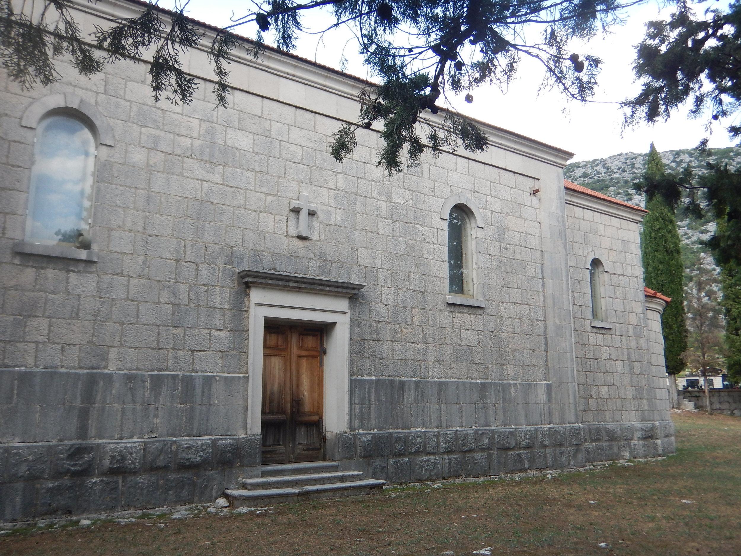 Side door on Church of Saint Ivan.