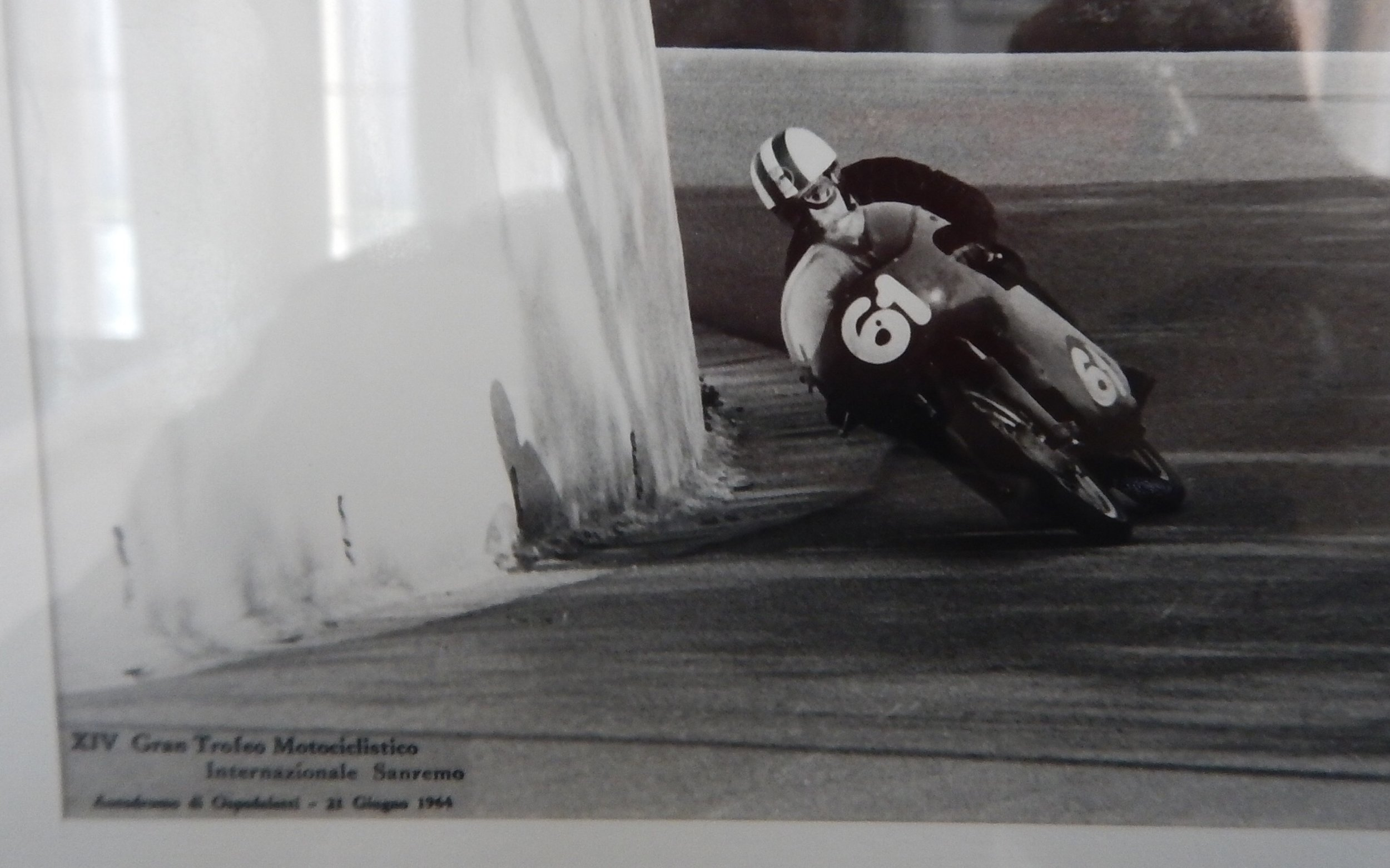 Franco raced Honda and Benelli's and even raced in a 1000 mile road race around central Italy.