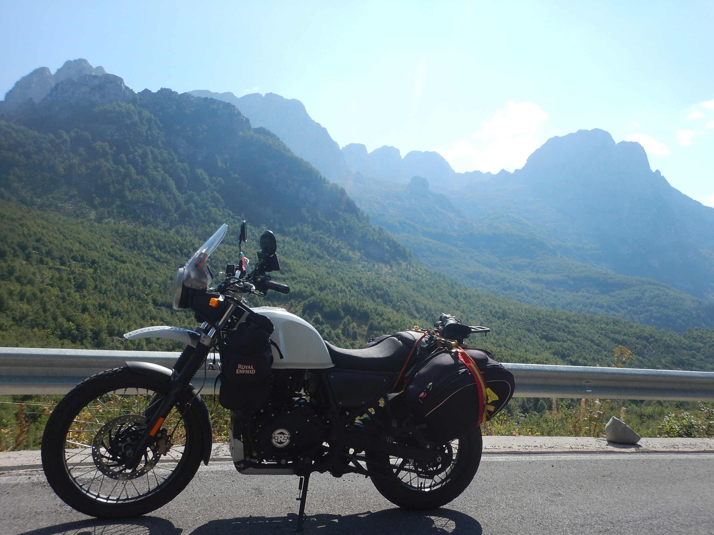 Motorcycling in the mountains! Hehe. You didn't expect that, did you??