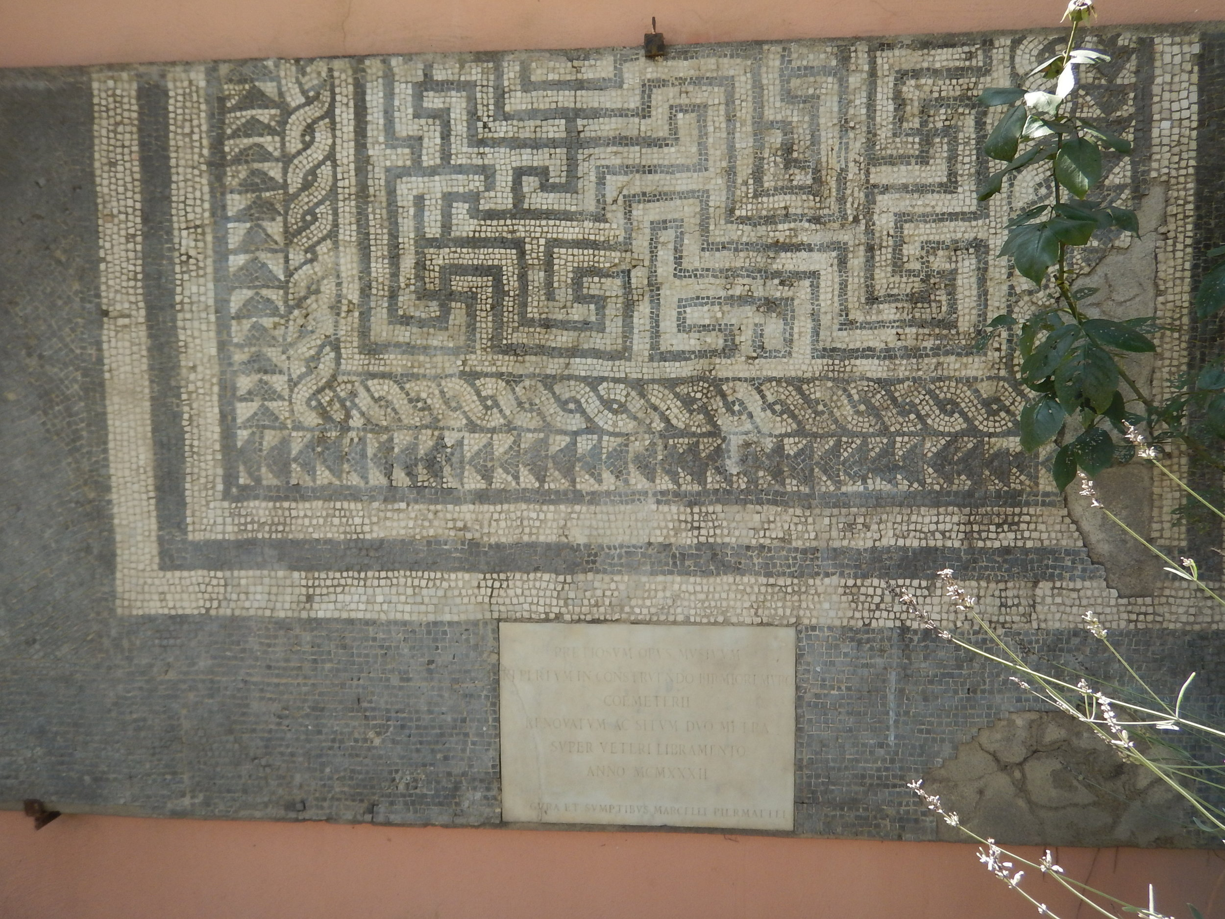 Some carefully preserved and ancient mosaicing.