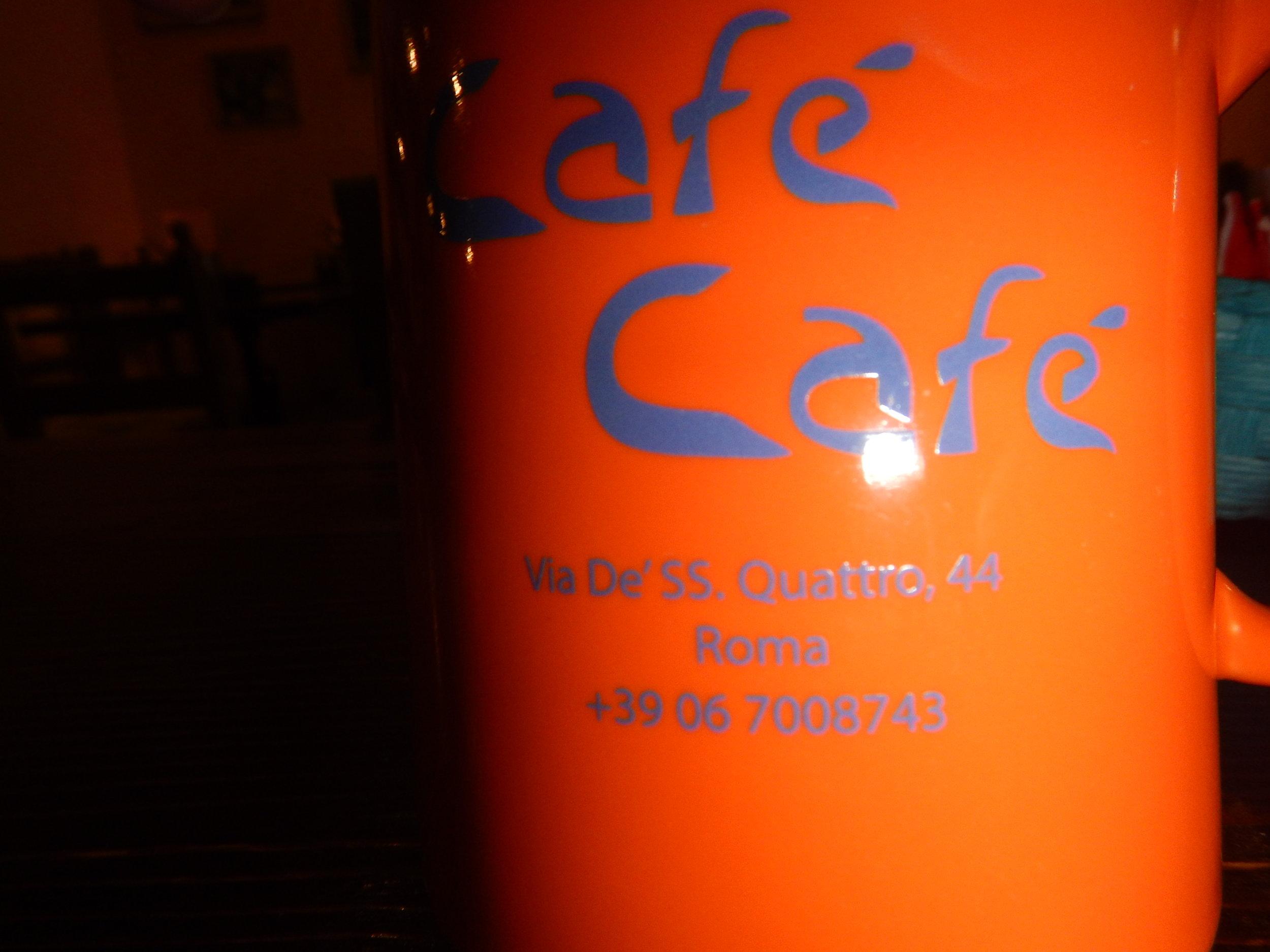 name and address on each mug. Great idea.