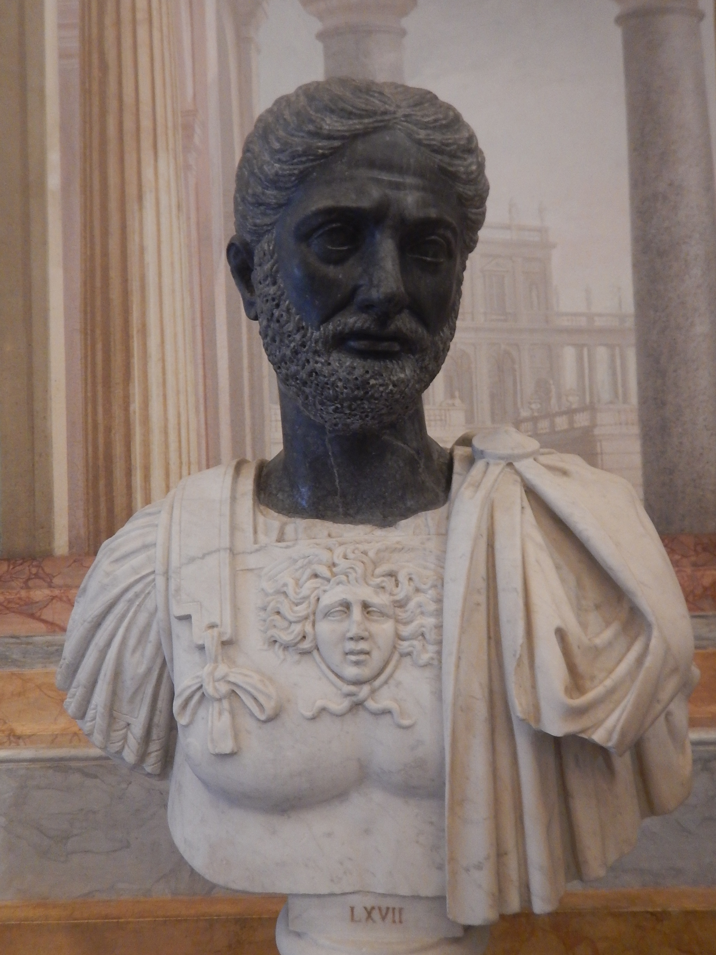 bernini often used contrasting marbles for his bust sculptures