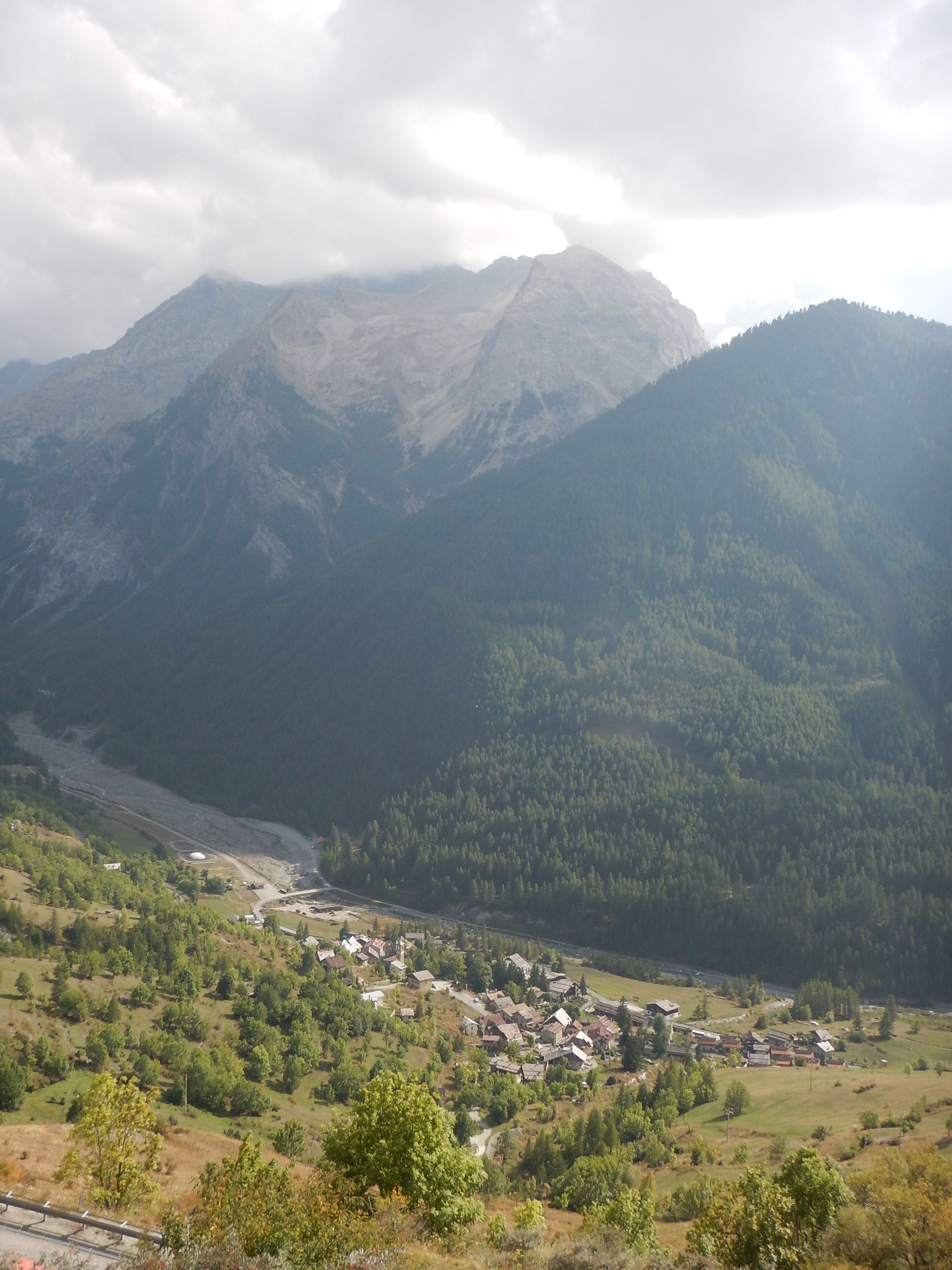 Looking down the valley to another of the early villages.