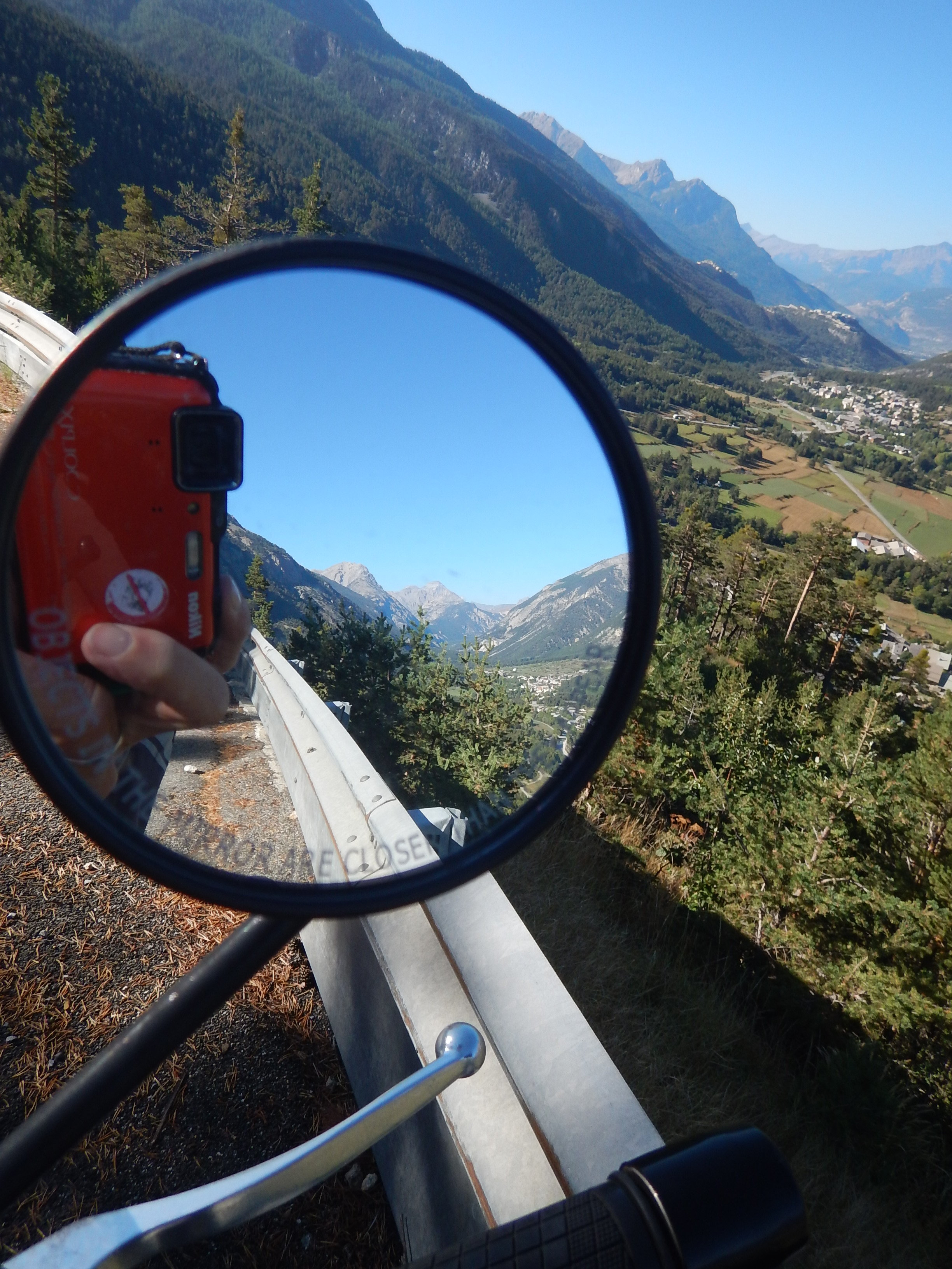 mountains everywhere, on all sides and even in the mirror.