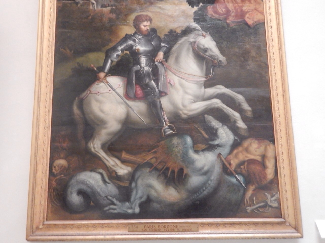Saint George pooped up in Italy too.