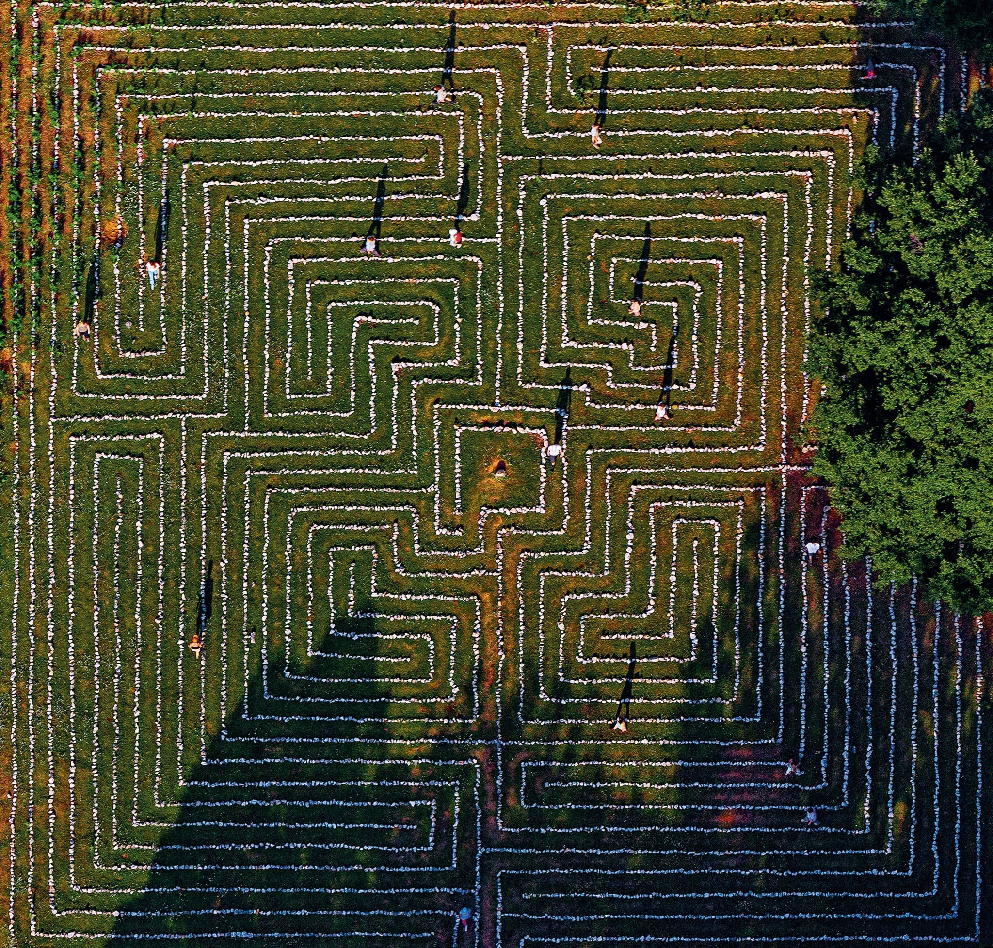 the National Geographic photo of Cres Island stone labyrinth.