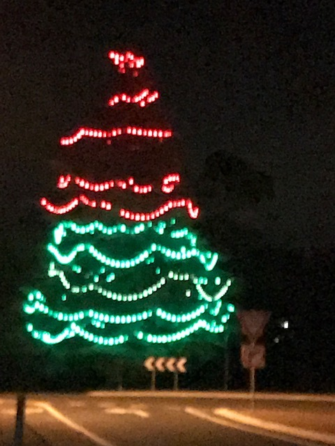 Latrobe Cherry Shed Christmas tree.