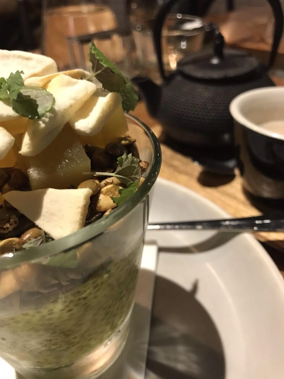 My glamorous chia pudding breakfast.