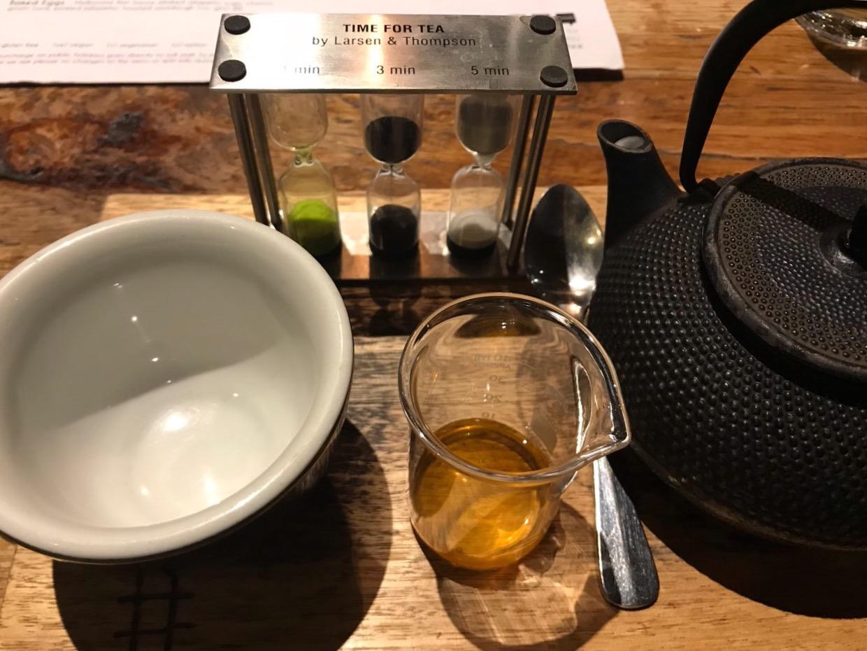 My pot of brewed chai tea.