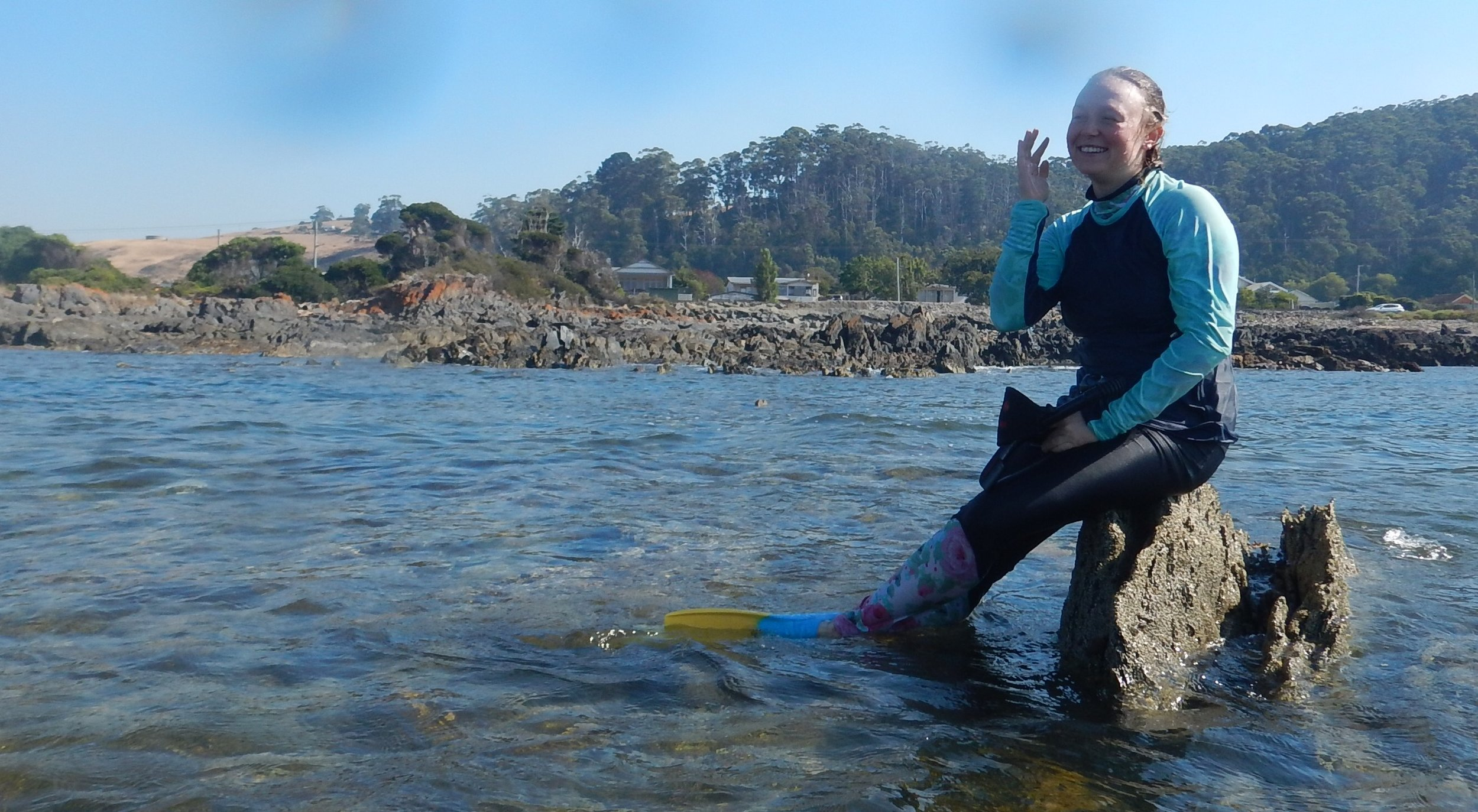 Mermaid on a rock!
